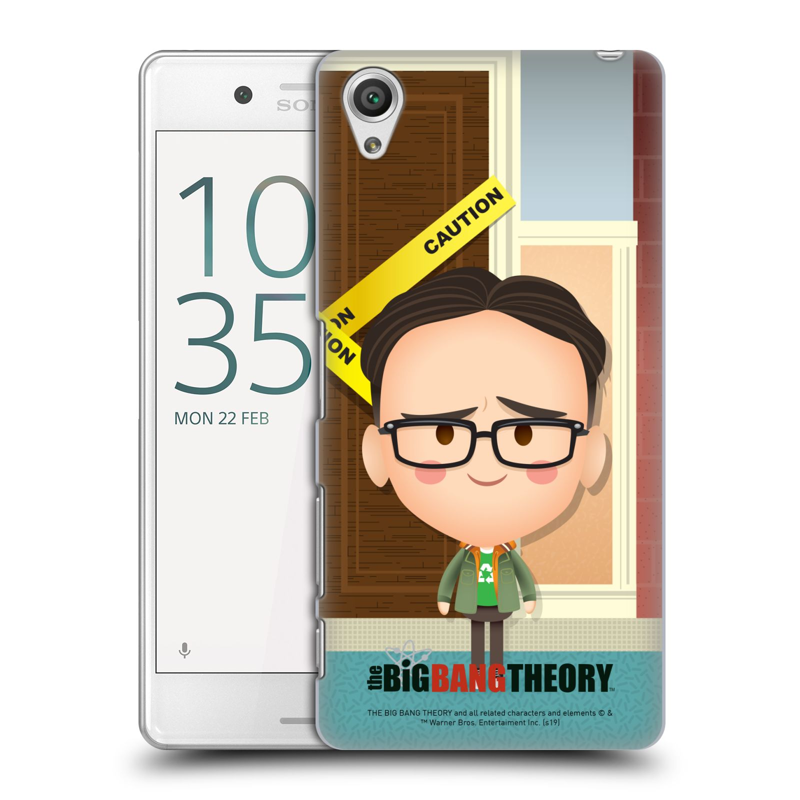Pouzdro na mobil Sony Xperia X PERFORMANCE - HEAD CASE - Big Bang Theory - kreslený Leonard