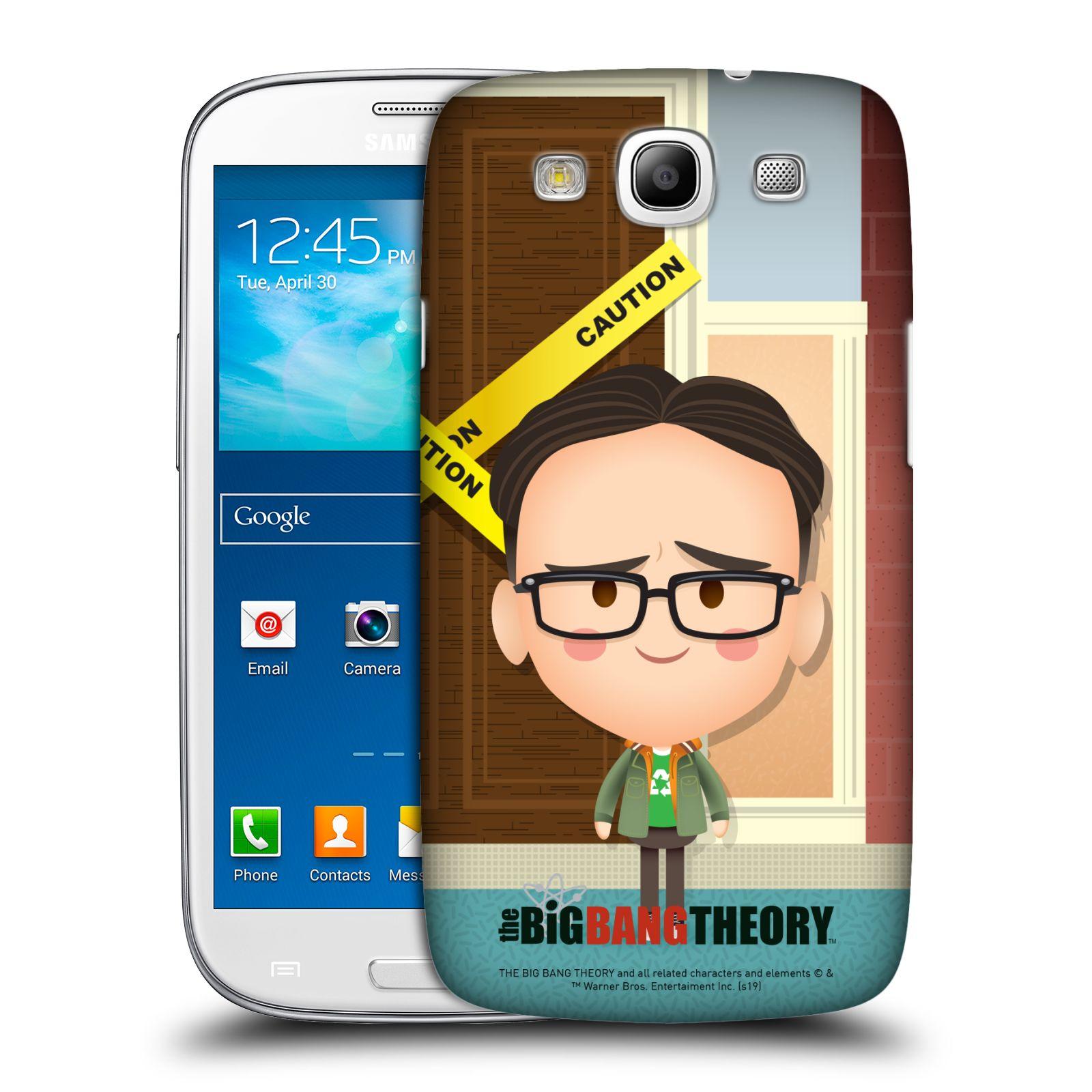 Pouzdro na mobil Samsung Galaxy S3 - HEAD CASE - Big Bang Theory - kreslený Leonard