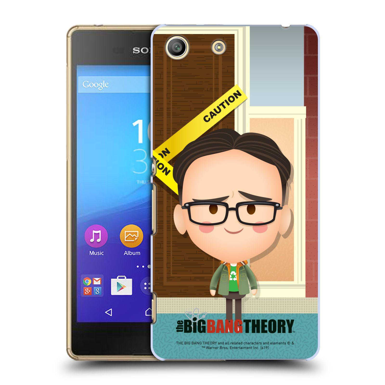 Pouzdro na mobil Sony Xperia M5 - HEAD CASE - Big Bang Theory - kreslený Leonard