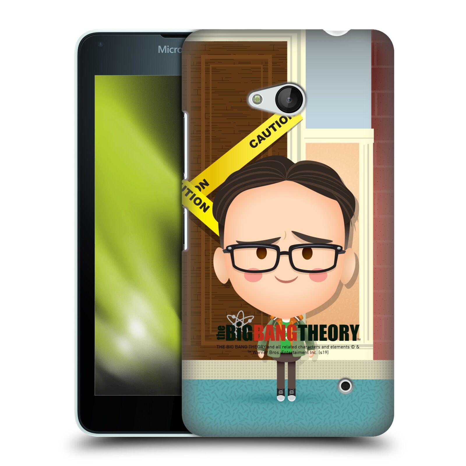 Pouzdro na mobil Microsoft Lumia 640 / 640 DUAL SIM - HEAD CASE - Big Bang Theory - kreslený Leonard