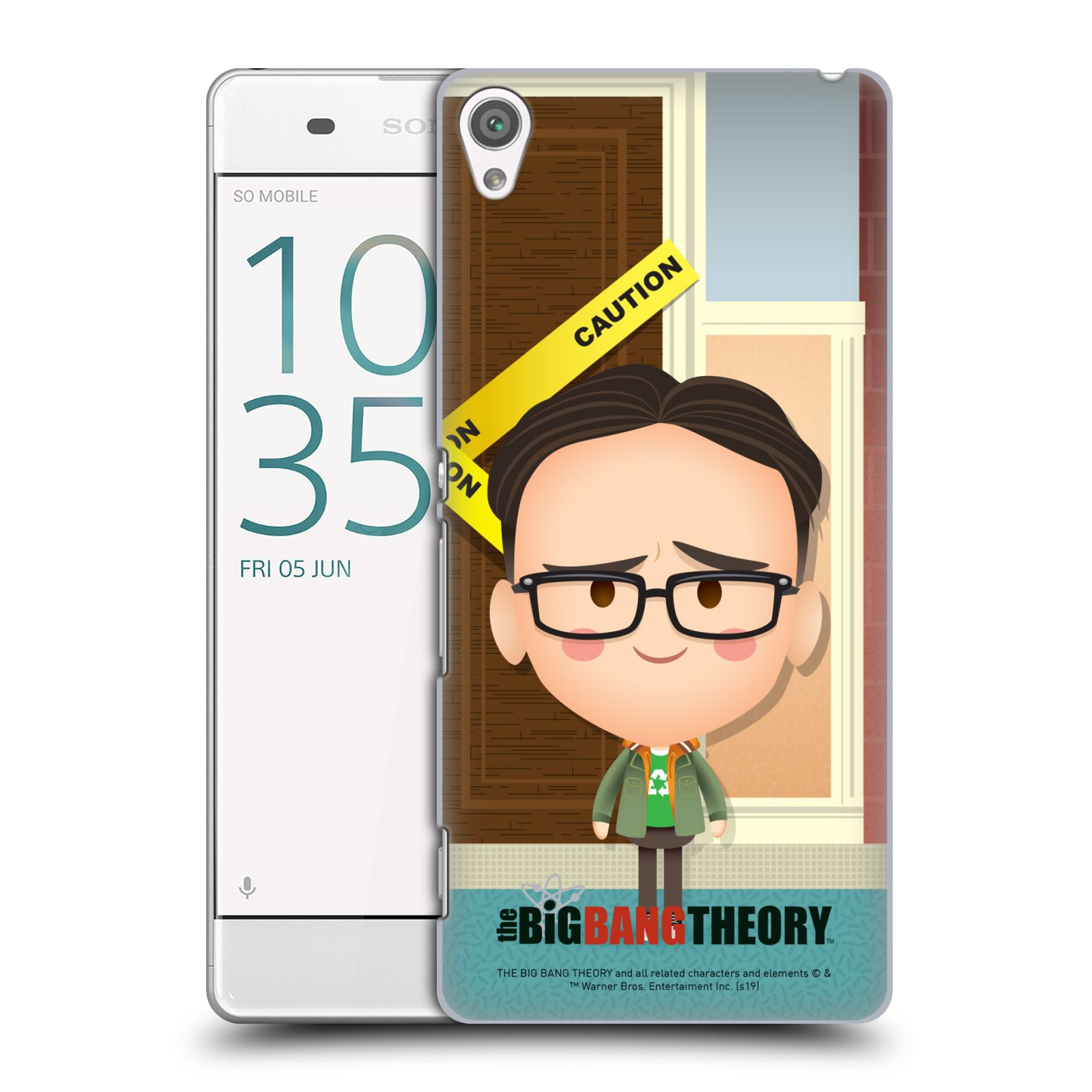 Pouzdro na mobil Sony Xperia XA - HEAD CASE - Big Bang Theory - kreslený Leonard