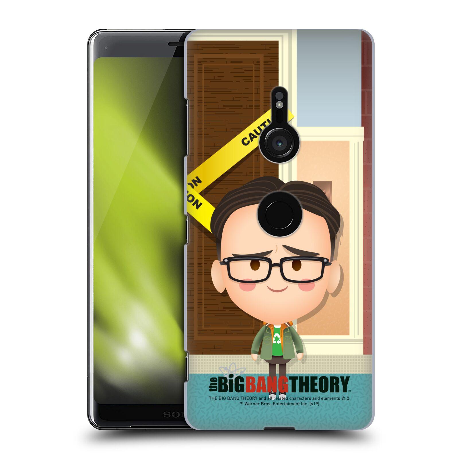 Pouzdro na mobil Sony Xperia XZ3 - HEAD CASE - Big Bang Theory - kreslený Leonard