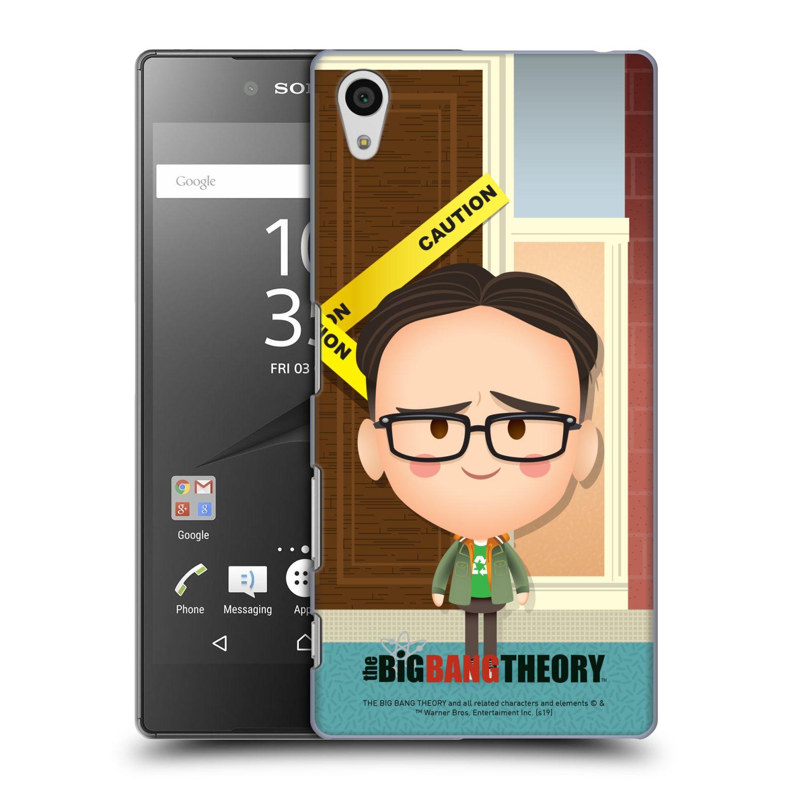 Pouzdro na mobil Sony Xperia Z5 - HEAD CASE - Big Bang Theory - kreslený Leonard
