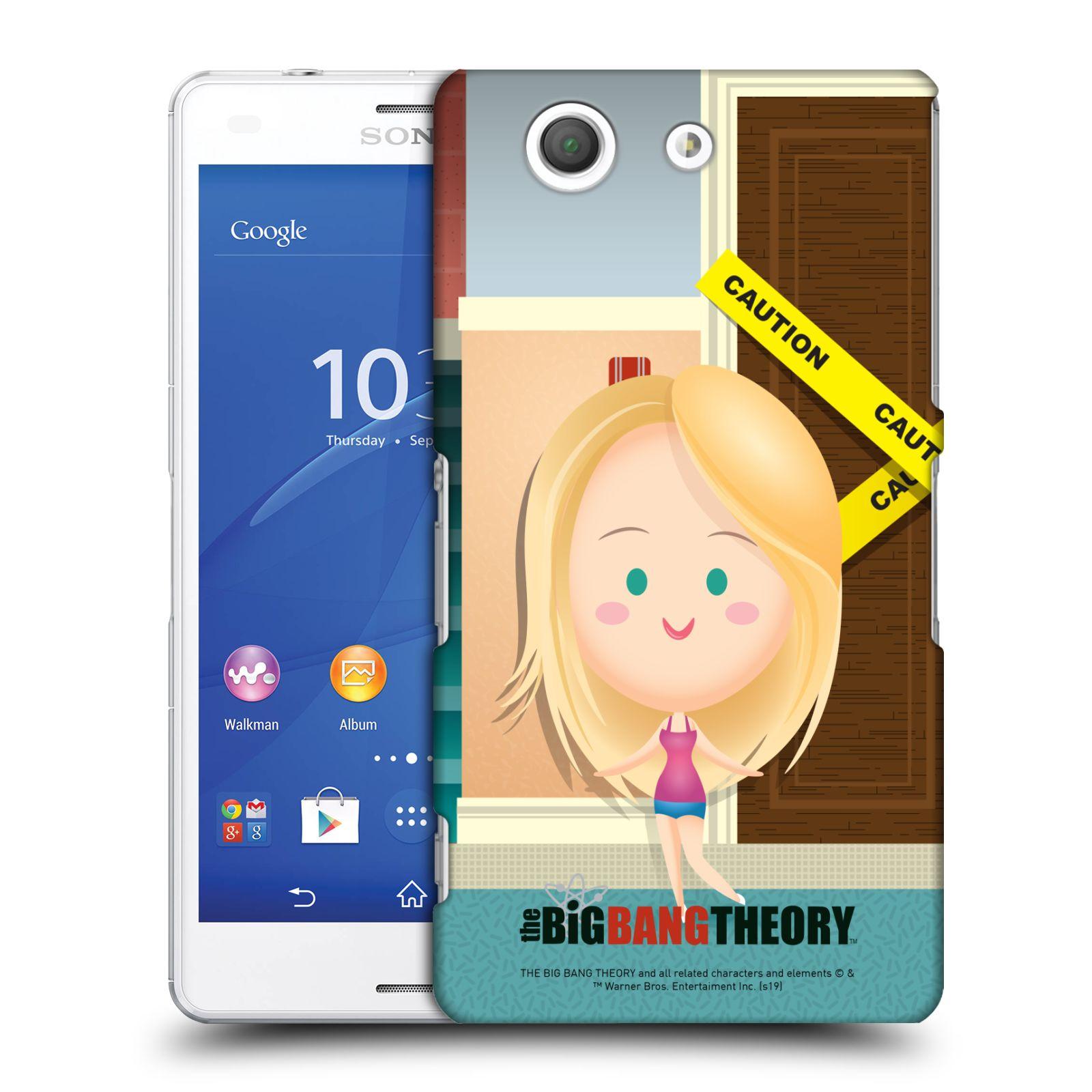 Pouzdro na mobil Sony Xperia Z3 COMPACT - HEAD CASE - Big Bang Theory - kreslená Penny