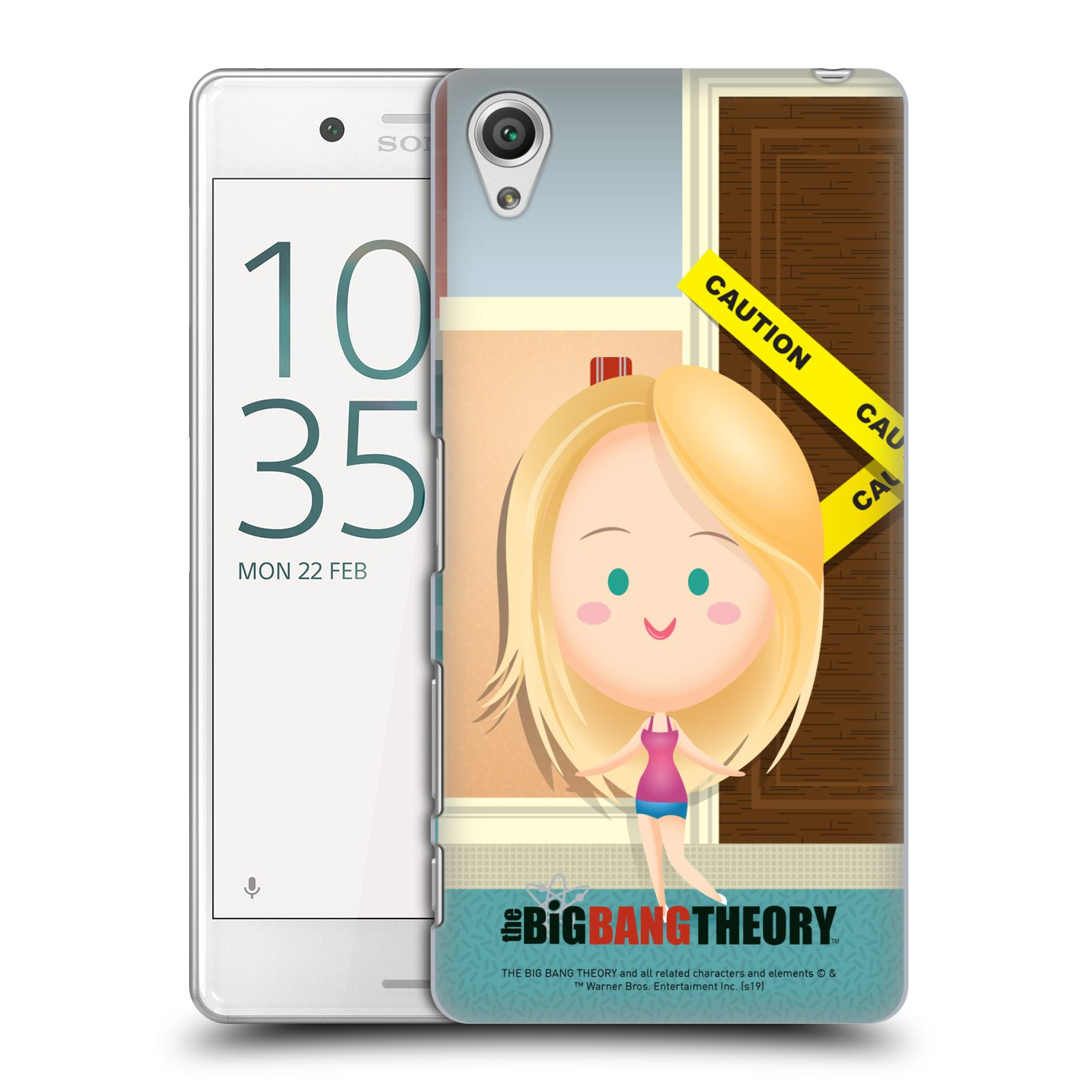 Pouzdro na mobil Sony Xperia X PERFORMANCE - HEAD CASE - Big Bang Theory - kreslená Penny