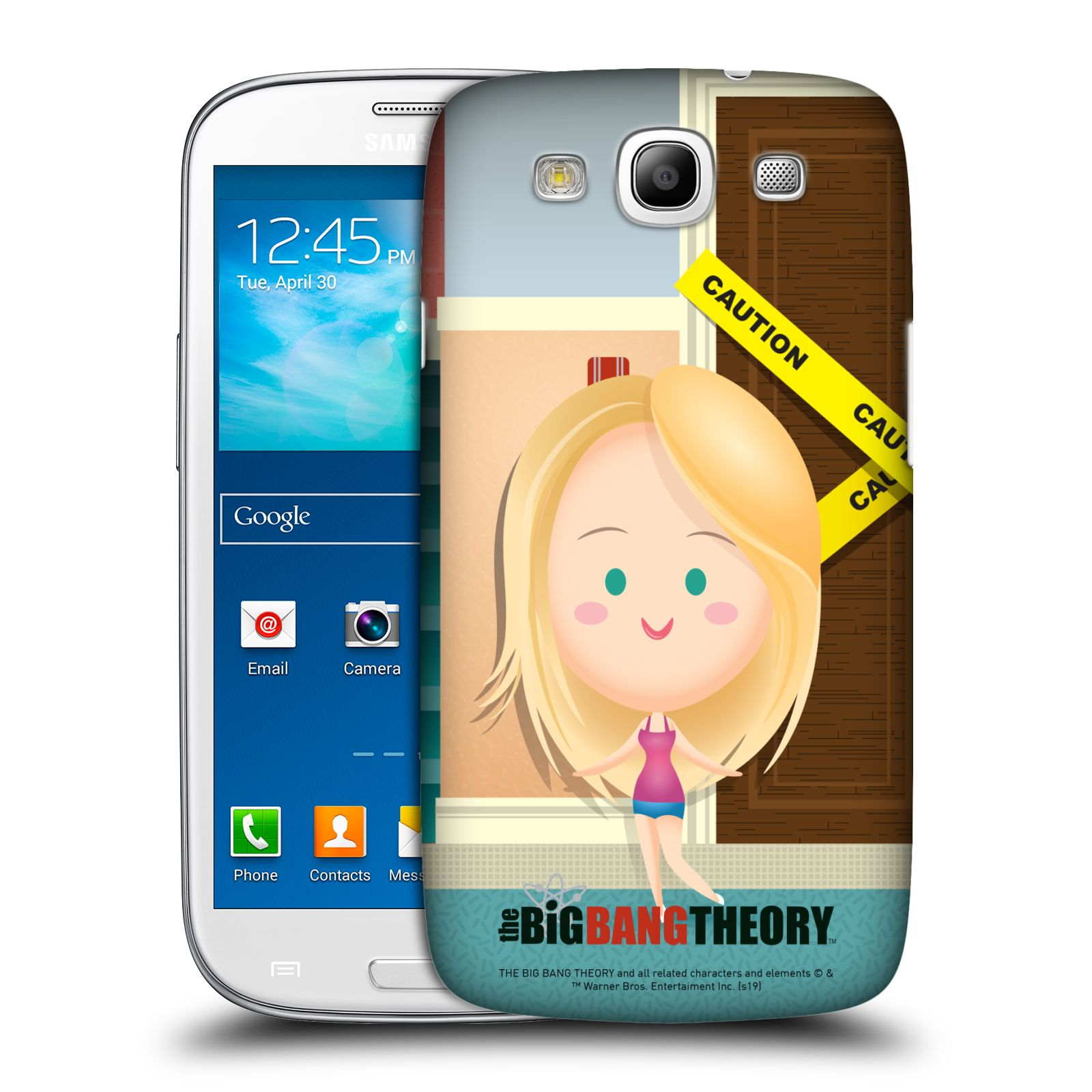 Pouzdro na mobil Samsung Galaxy S3 - HEAD CASE - Big Bang Theory - kreslená Penny