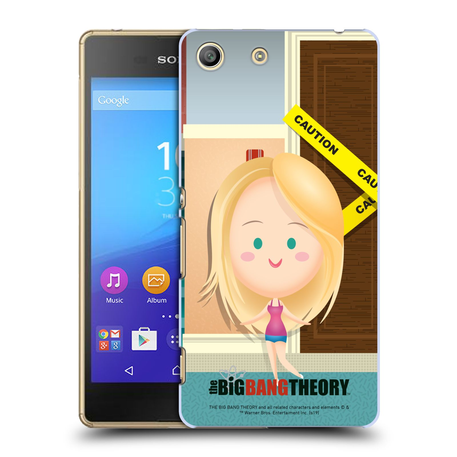 Pouzdro na mobil Sony Xperia M5 - HEAD CASE - Big Bang Theory - kreslená Penny