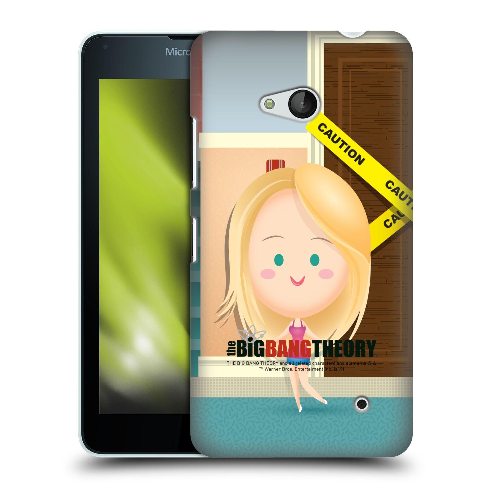 Pouzdro na mobil Microsoft Lumia 640 / 640 DUAL SIM - HEAD CASE - Big Bang Theory - kreslená Penny