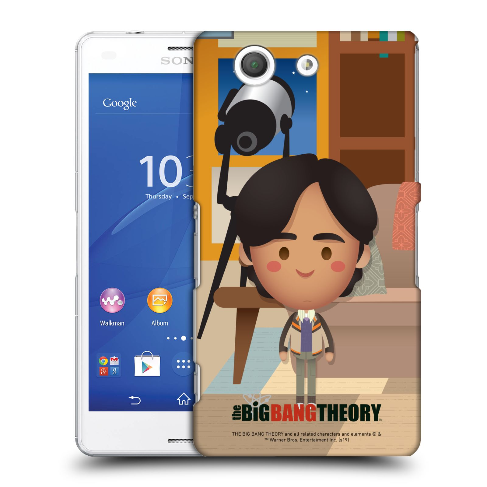 Pouzdro na mobil Sony Xperia Z3 COMPACT - HEAD CASE - Big Bang Theory - kreslený Rajesh