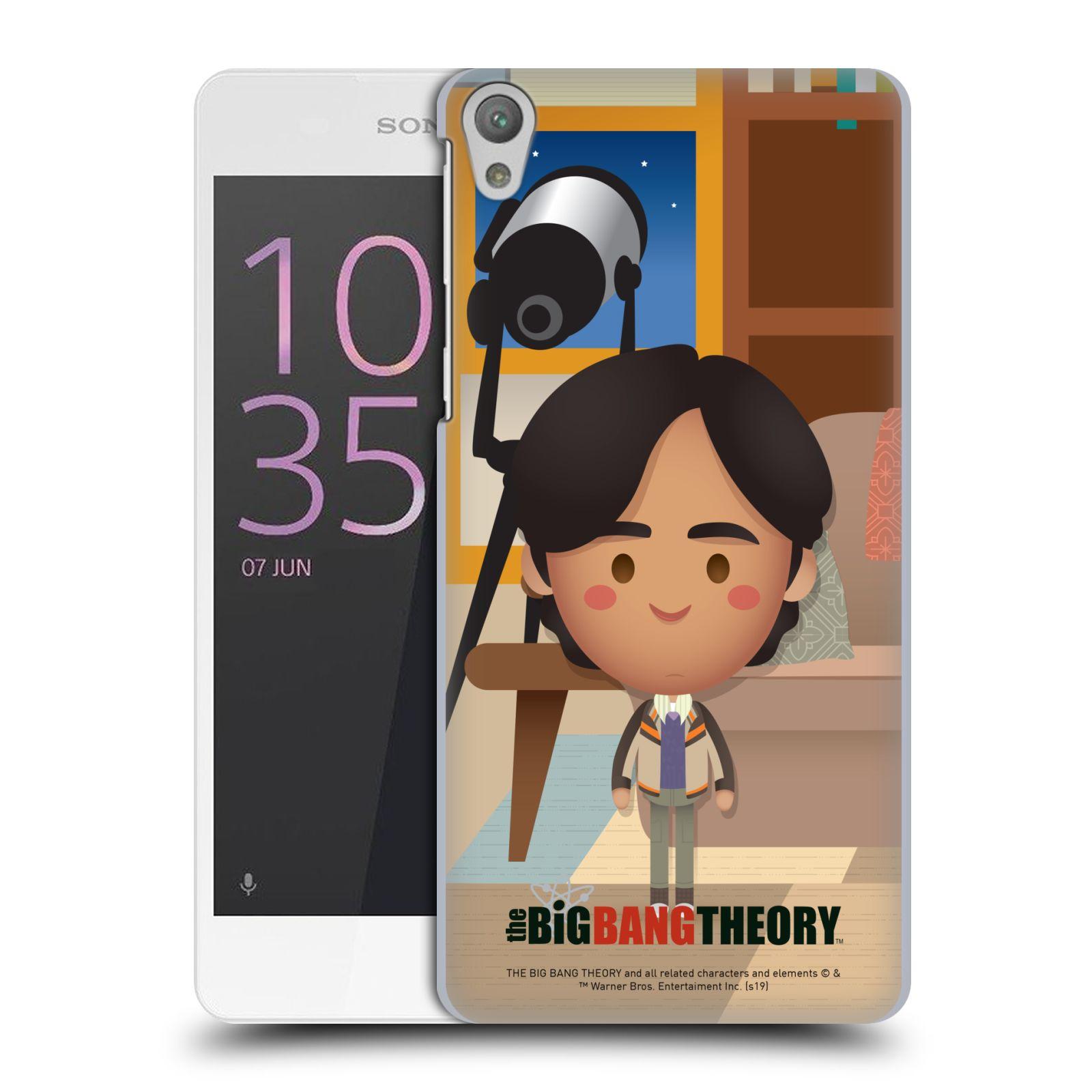 Pouzdro na mobil Sony Xperia E5 - HEAD CASE - Big Bang Theory - kreslený Rajesh