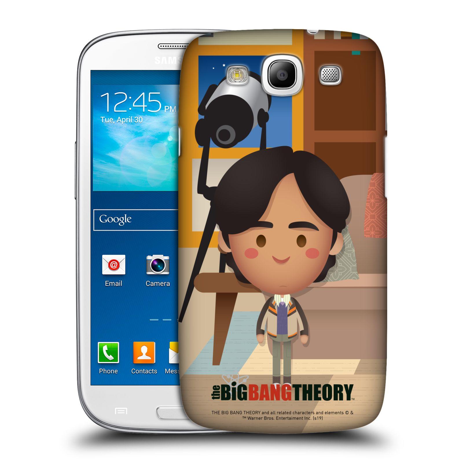 Pouzdro na mobil Samsung Galaxy S3 - HEAD CASE - Big Bang Theory - kreslený Rajesh