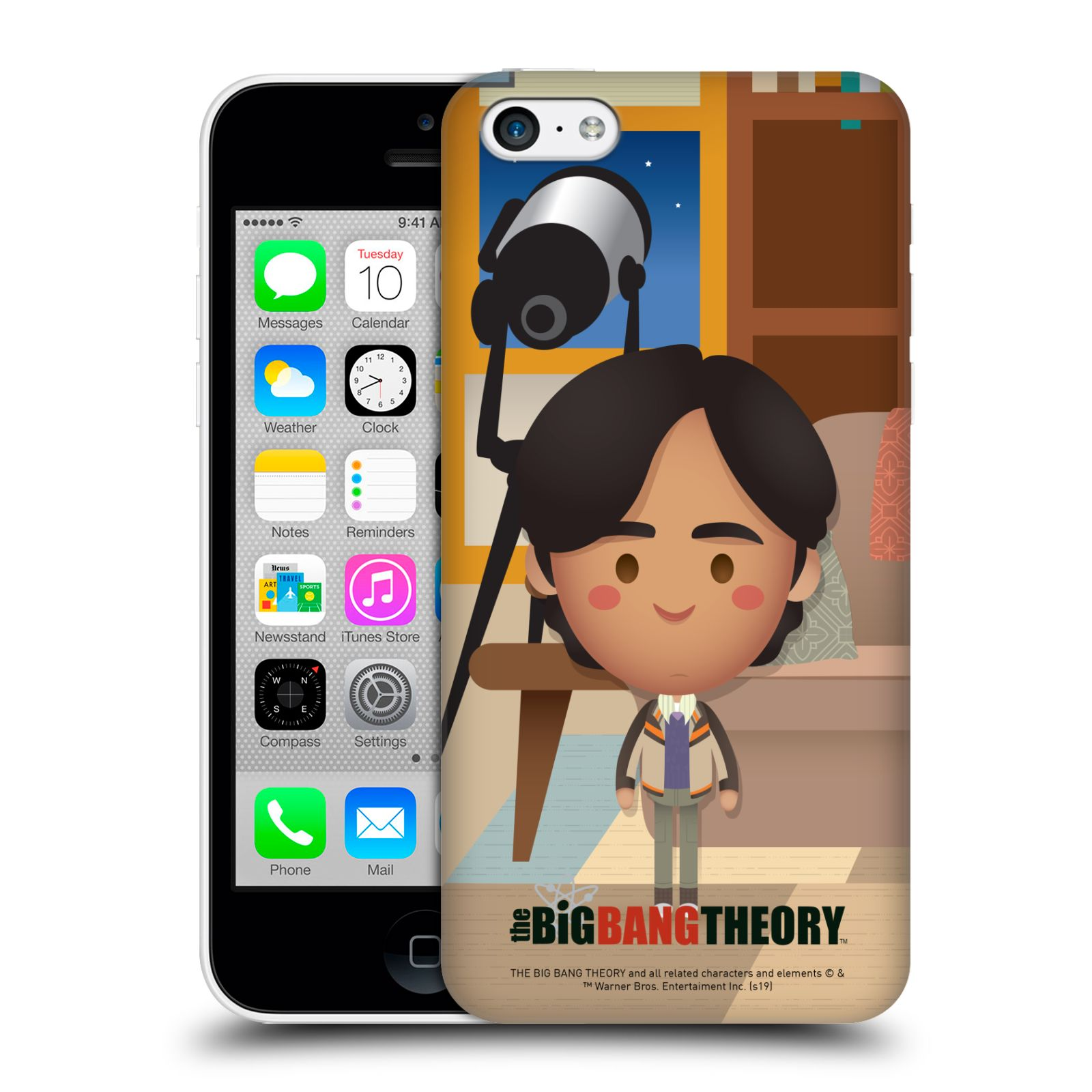 Pouzdro na mobil Apple Iphone 5C - HEAD CASE - Big Bang Theory - kreslený Rajesh