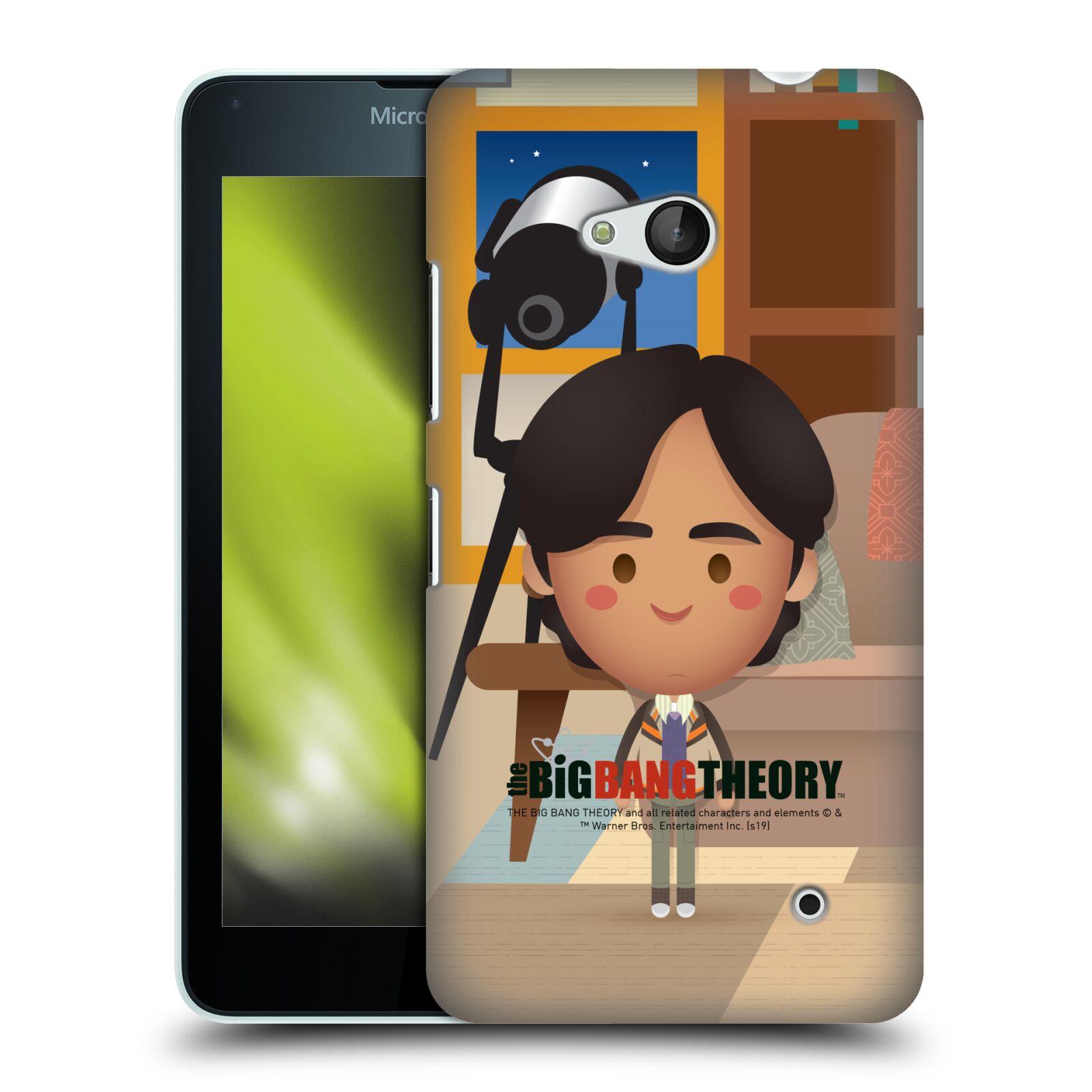 Pouzdro na mobil Microsoft Lumia 640 / 640 DUAL SIM - HEAD CASE - Big Bang Theory - kreslený Rajesh
