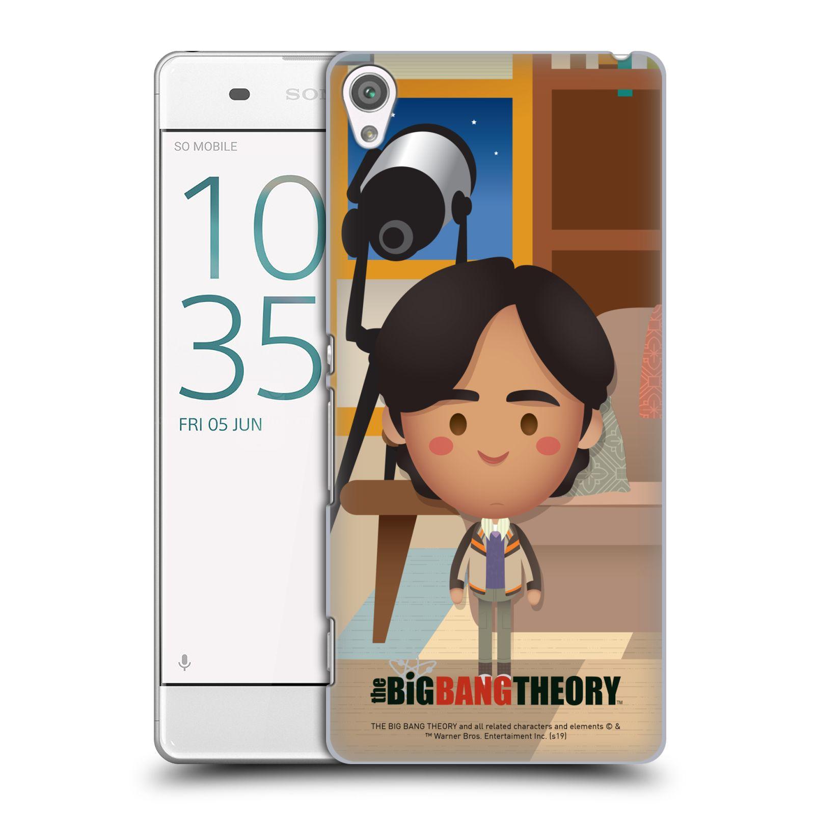 Pouzdro na mobil Sony Xperia XA - HEAD CASE - Big Bang Theory - kreslený Rajesh
