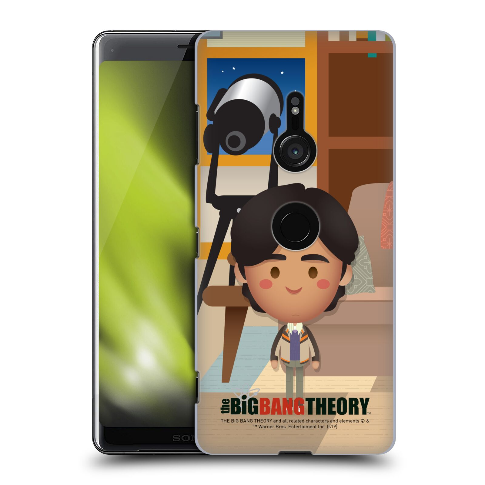 Pouzdro na mobil Sony Xperia XZ3 - HEAD CASE - Big Bang Theory - kreslený Rajesh