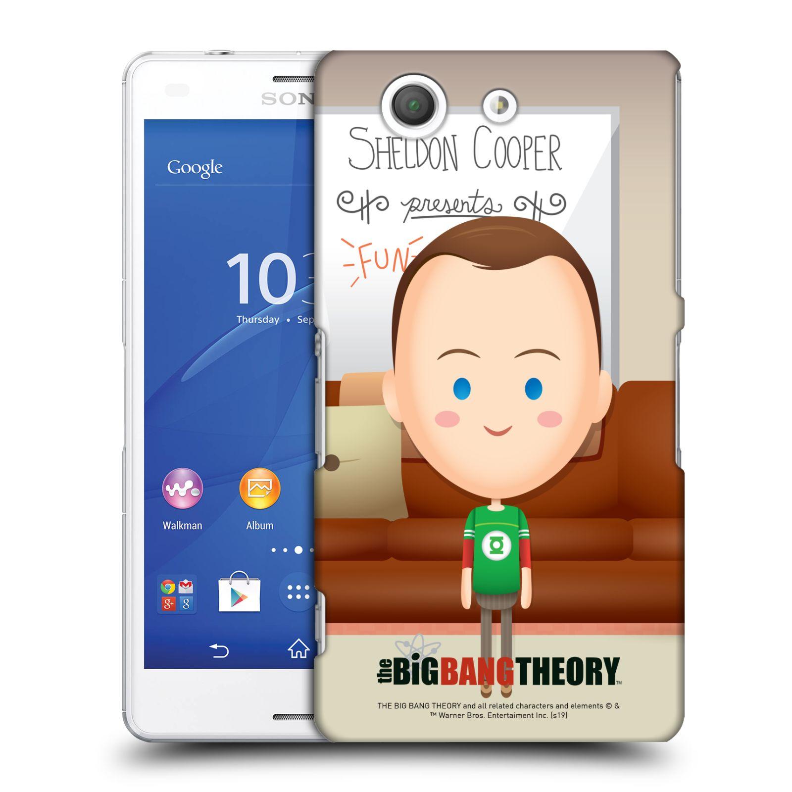 Pouzdro na mobil Sony Xperia Z3 COMPACT - HEAD CASE - Big Bang Theory - kreslený Sheldon