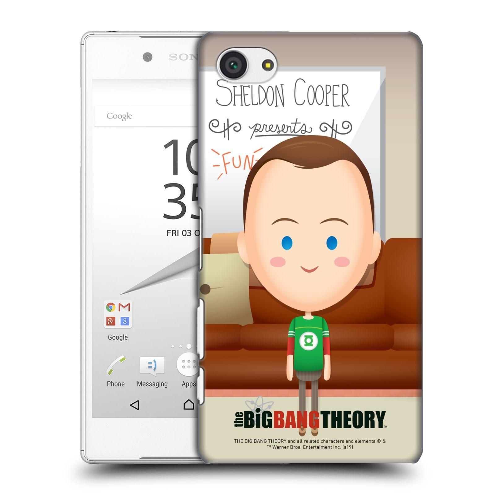 Pouzdro na mobil Sony Xperia Z5 COMPACT - HEAD CASE - Big Bang Theory - kreslený Sheldon