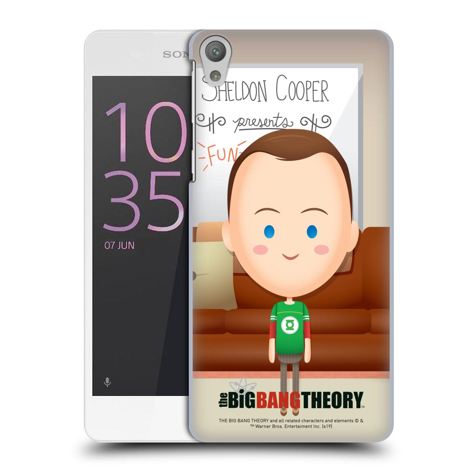 Pouzdro na mobil Sony Xperia E5 - HEAD CASE - Big Bang Theory - kreslený Sheldon