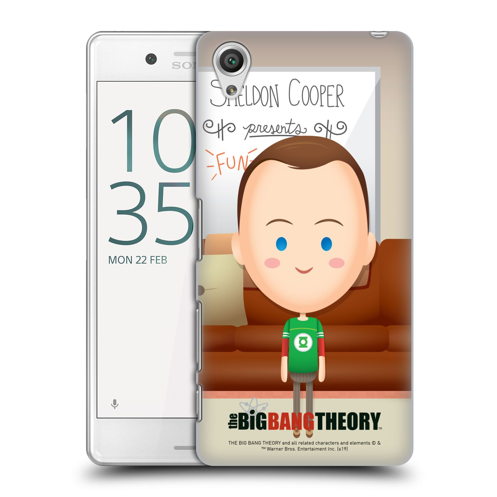Pouzdro na mobil Sony Xperia X PERFORMANCE - HEAD CASE - Big Bang Theory - kreslený Sheldon
