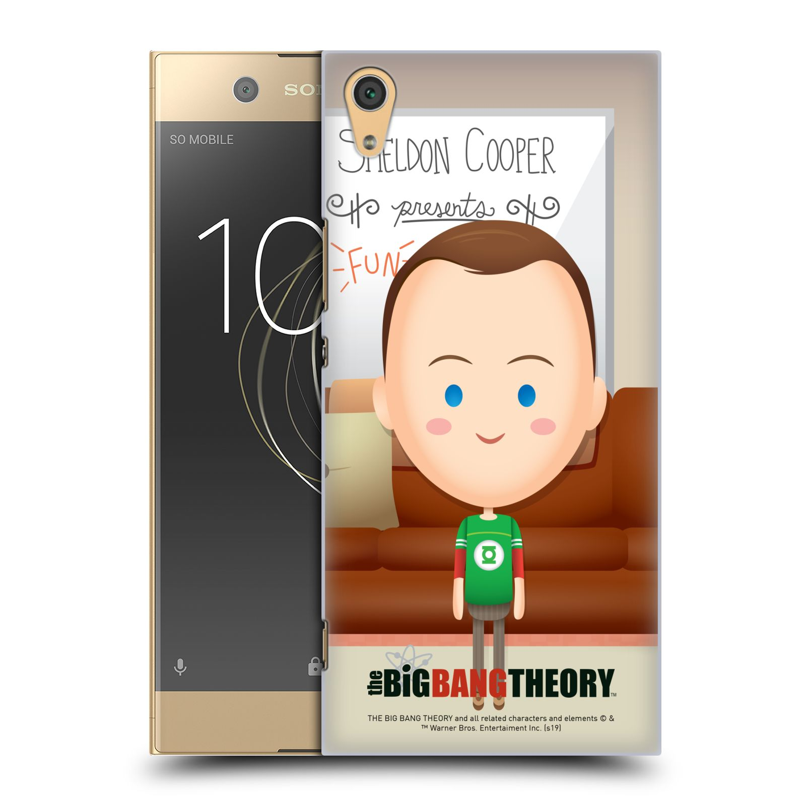 Pouzdro na mobil Sony Xperia XA1 ULTRA - HEAD CASE - Big Bang Theory - kreslený Sheldon