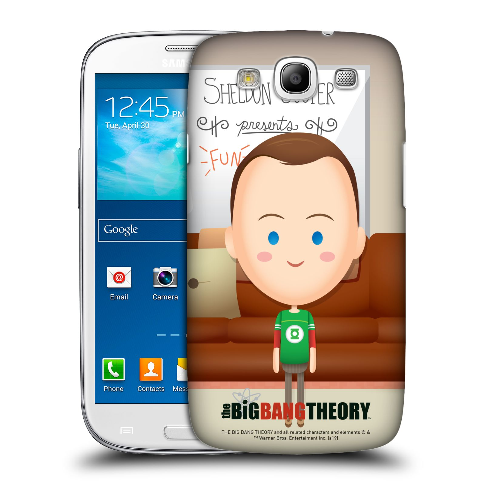 Pouzdro na mobil Samsung Galaxy S3 - HEAD CASE - Big Bang Theory - kreslený Sheldon