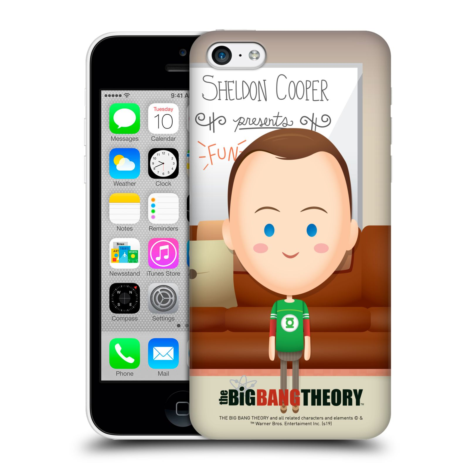 Pouzdro na mobil Apple Iphone 5C - HEAD CASE - Big Bang Theory - kreslený Sheldon