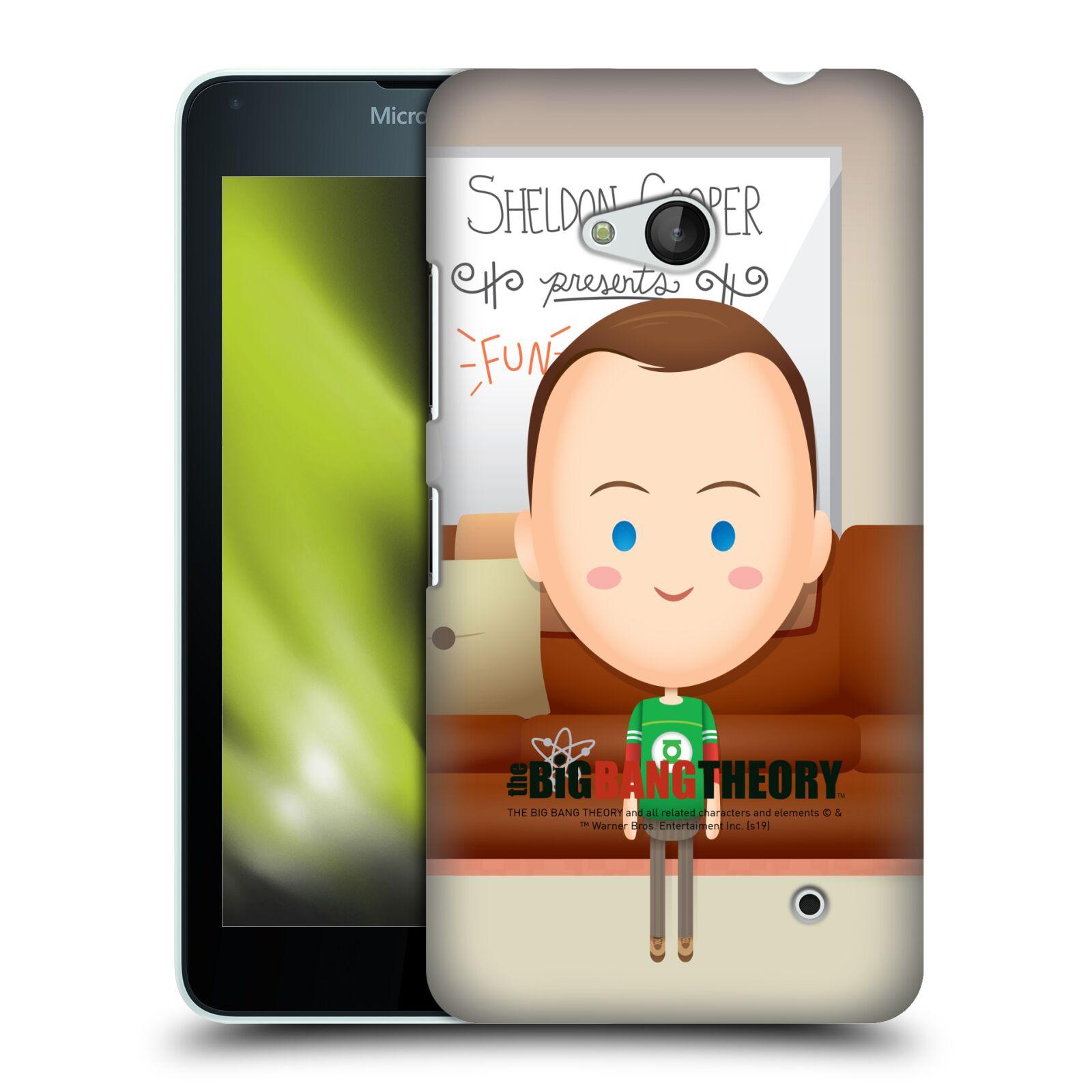 Pouzdro na mobil Microsoft Lumia 640 / 640 DUAL SIM - HEAD CASE - Big Bang Theory - kreslený Sheldon