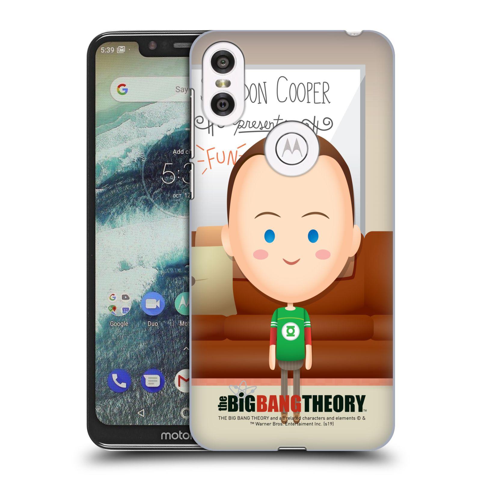 Pouzdro na mobil Motorola Moto ONE - HEAD CASE - Big Bang Theory - kreslený Sheldon