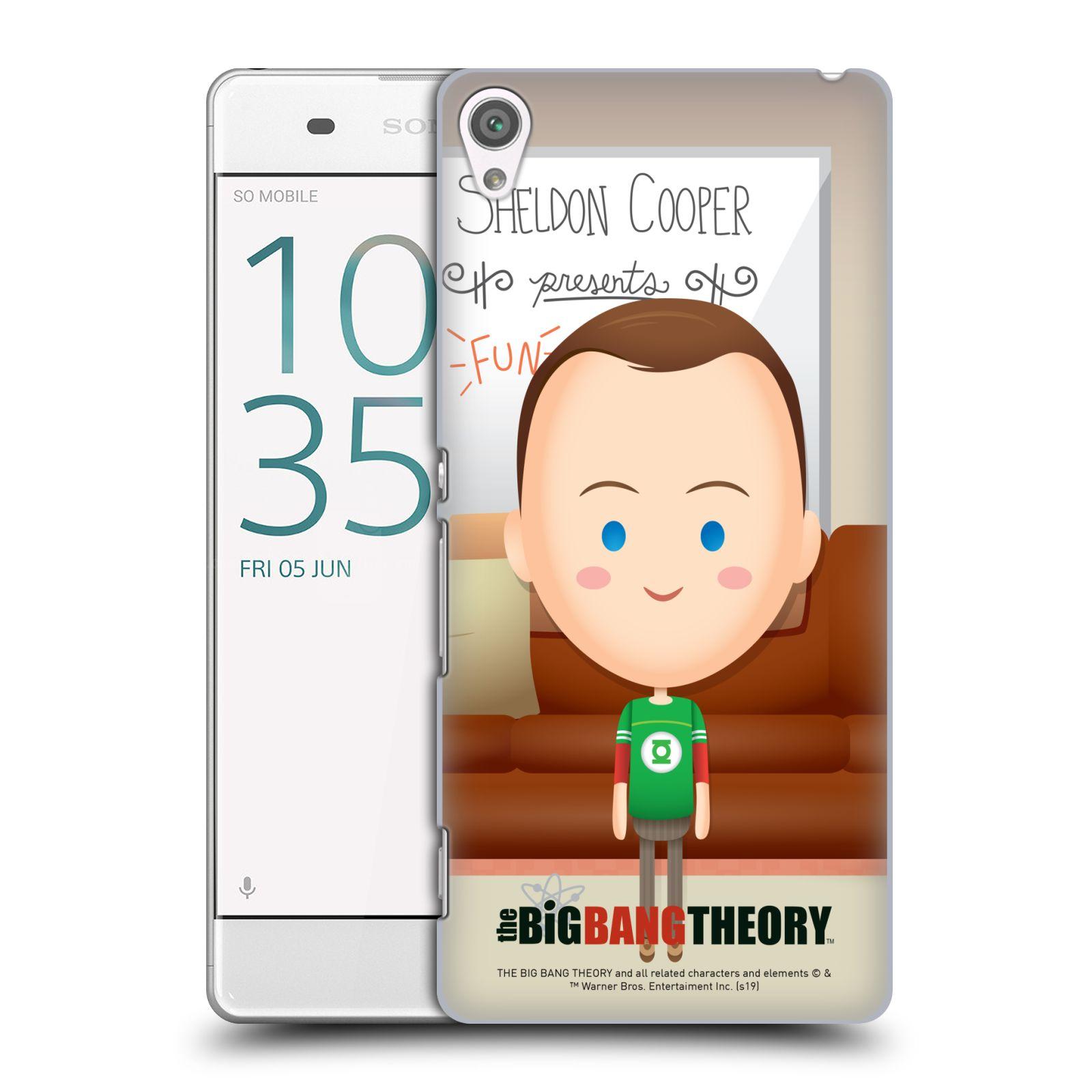 Pouzdro na mobil Sony Xperia XA - HEAD CASE - Big Bang Theory - kreslený Sheldon