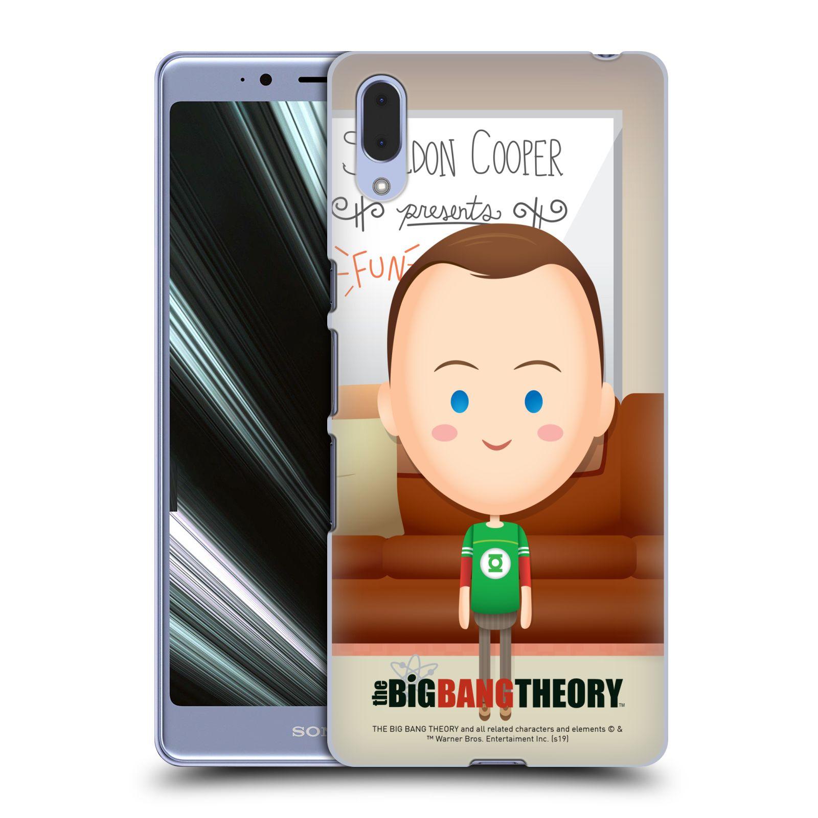 Pouzdro na mobil Sony Xperia L3 - HEAD CASE - Big Bang Theory - kreslený Sheldon