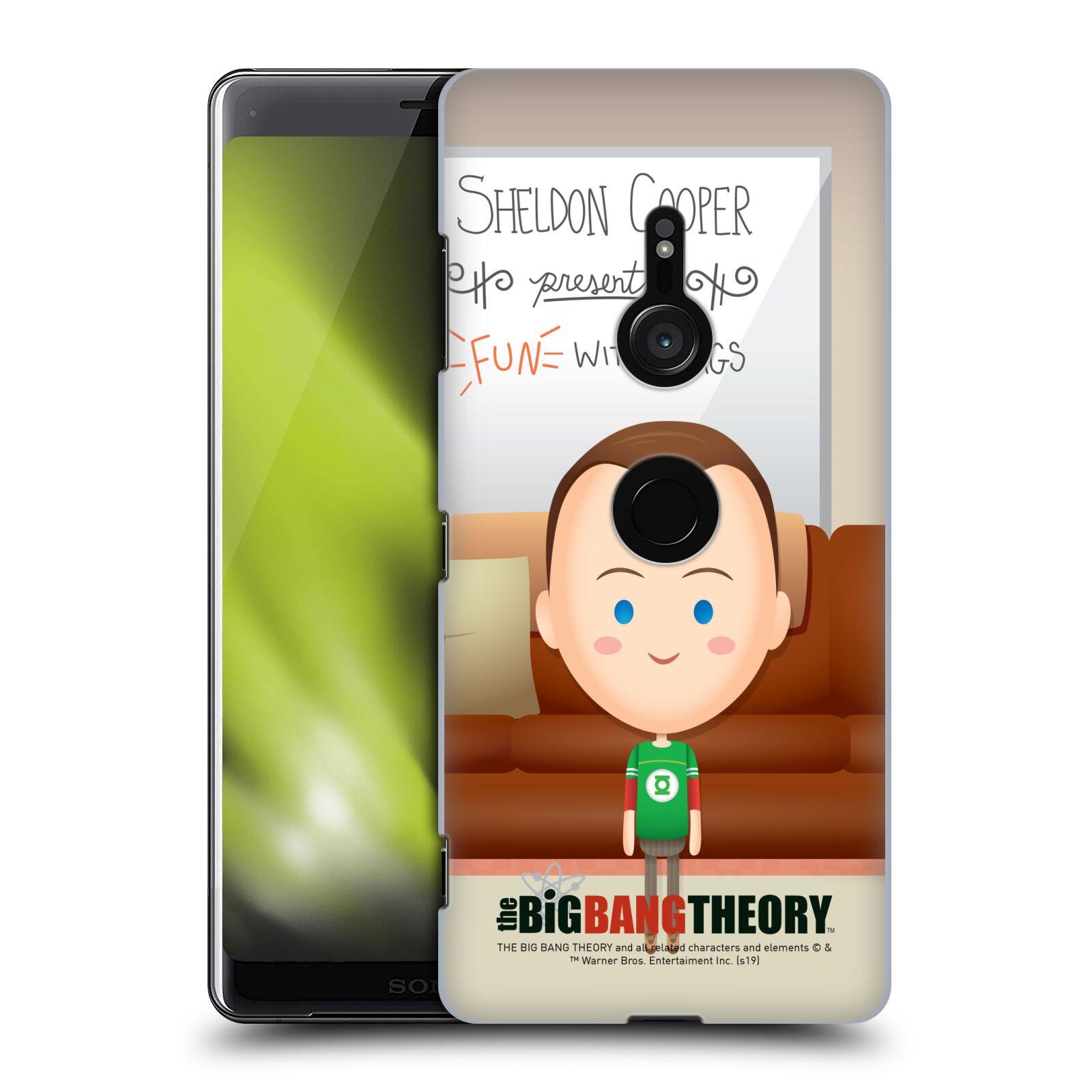 Pouzdro na mobil Sony Xperia XZ3 - HEAD CASE - Big Bang Theory - kreslený Sheldon
