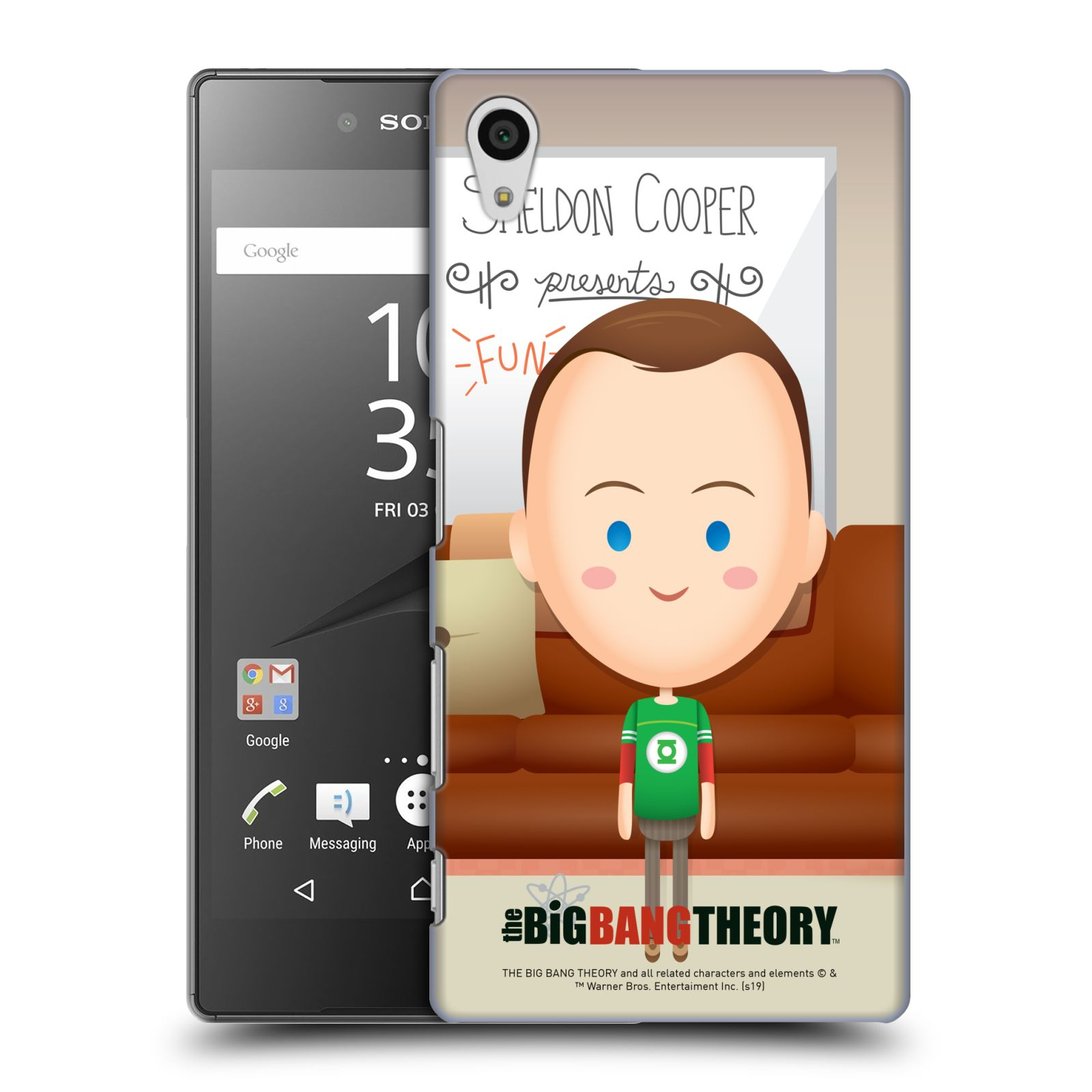 Pouzdro na mobil Sony Xperia Z5 - HEAD CASE - Big Bang Theory - kreslený Sheldon