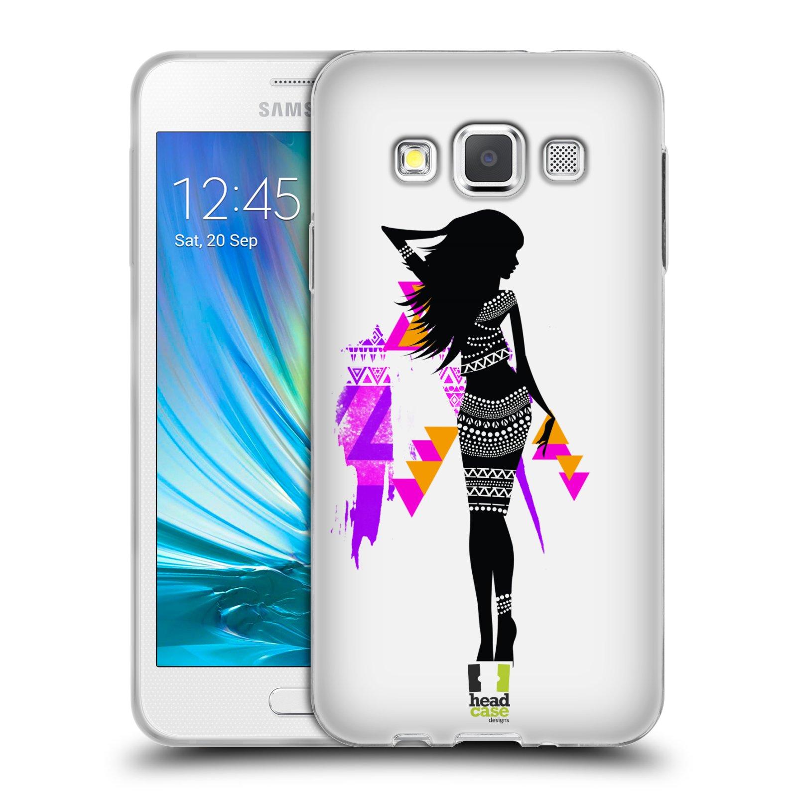 8e06792eb HEAD CASE silikonový obal na mobil Samsung Galaxy A3 vzor Modelky silueta  TEREZA empty
