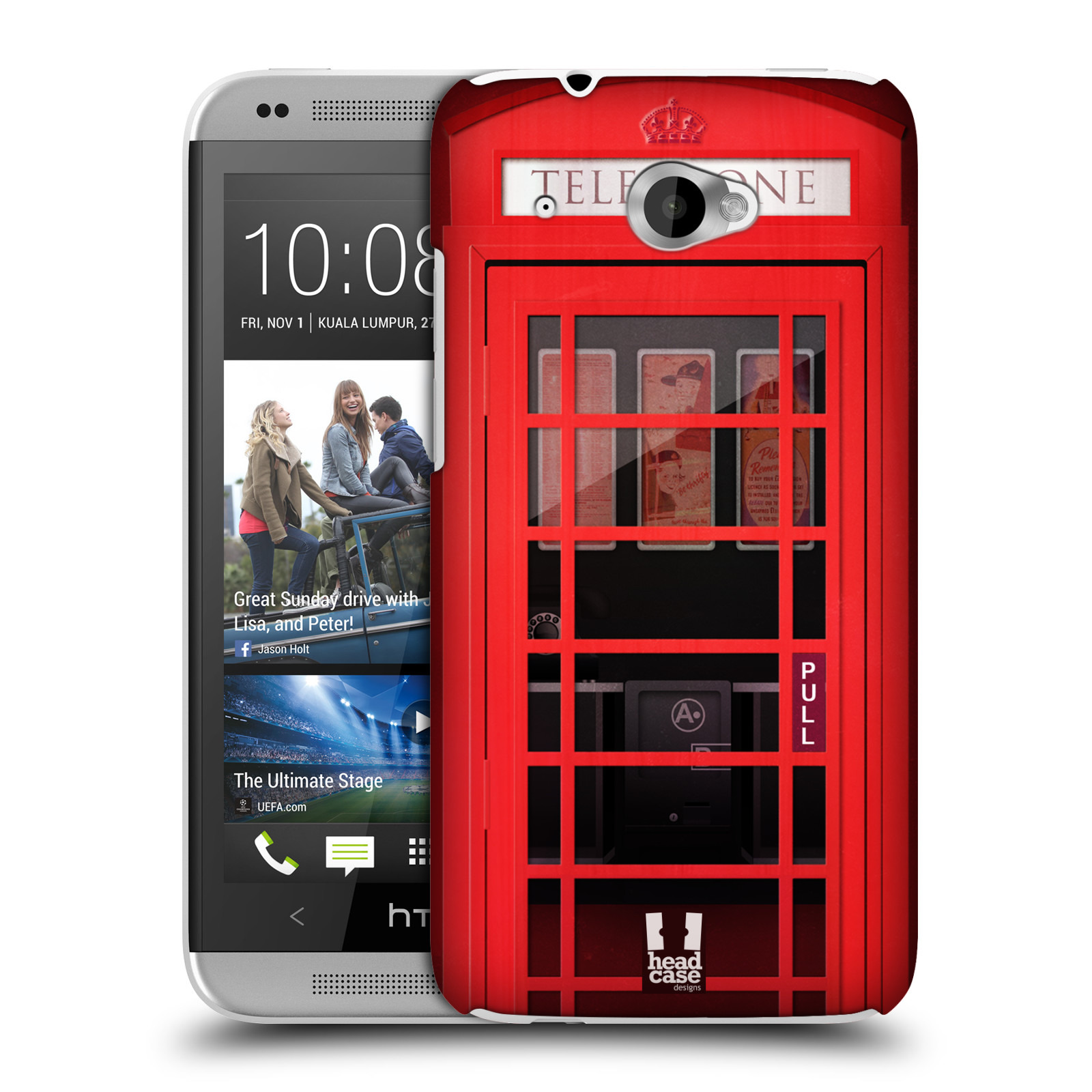 HEAD CASE DESIGNS TELEPHONE BOX CASE COVER FOR HTC DESIRE 601 LTE