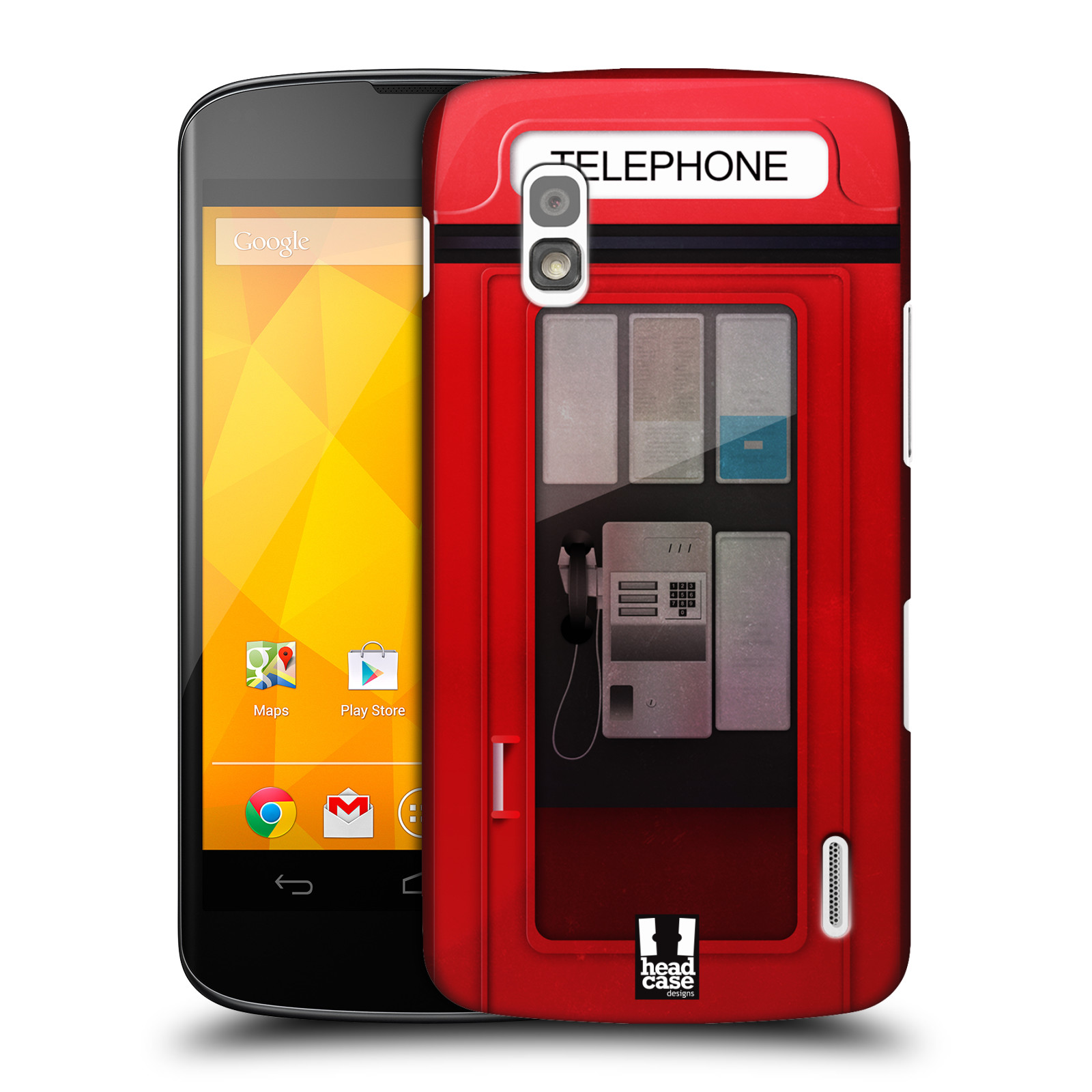 HEAD CASE DESIGNS TELEPHONE BOX CASE COVER FOR LG NEXUS 4 E960