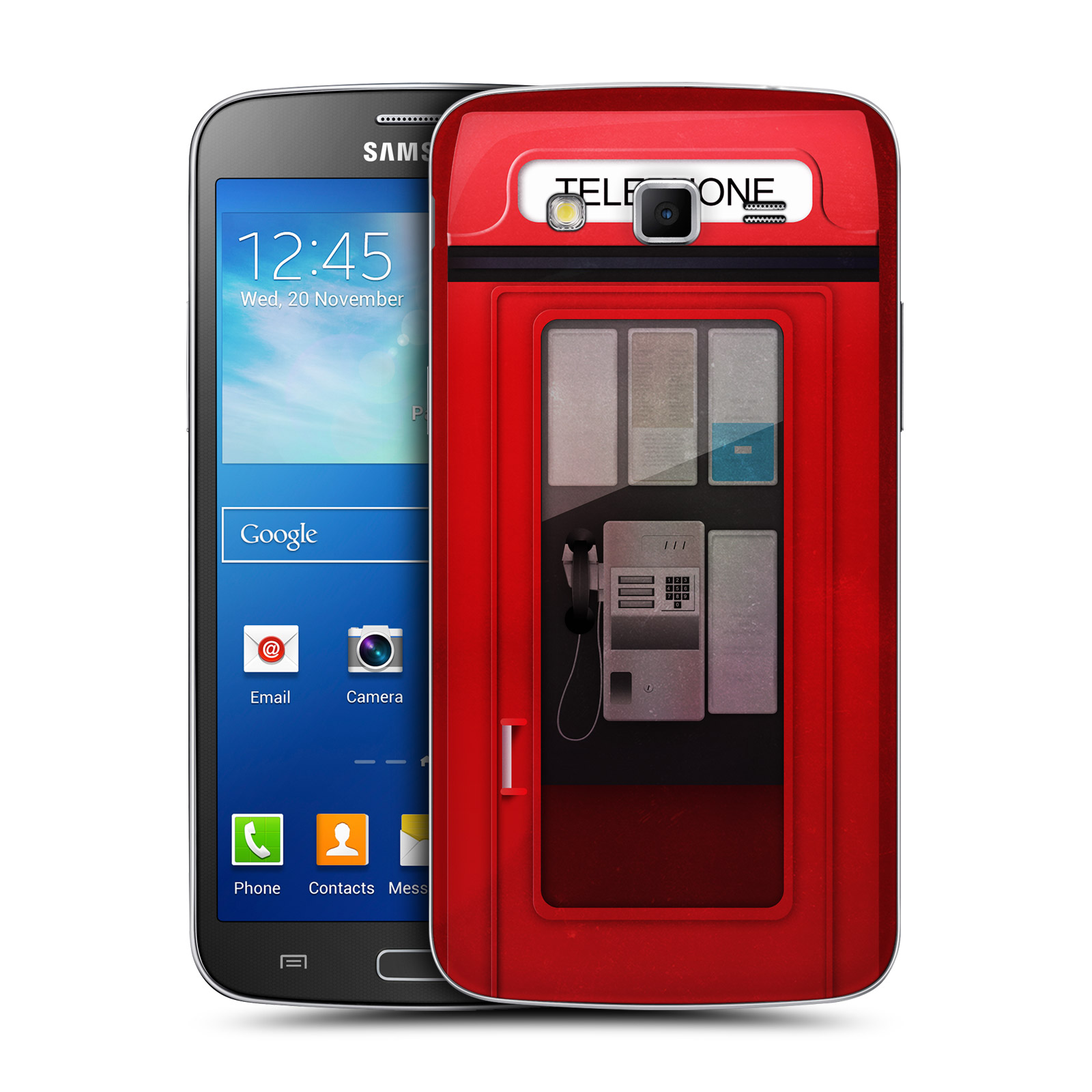 head case telephone box battery back cover for samsung galaxy grand 2 g7102 ebay. Black Bedroom Furniture Sets. Home Design Ideas