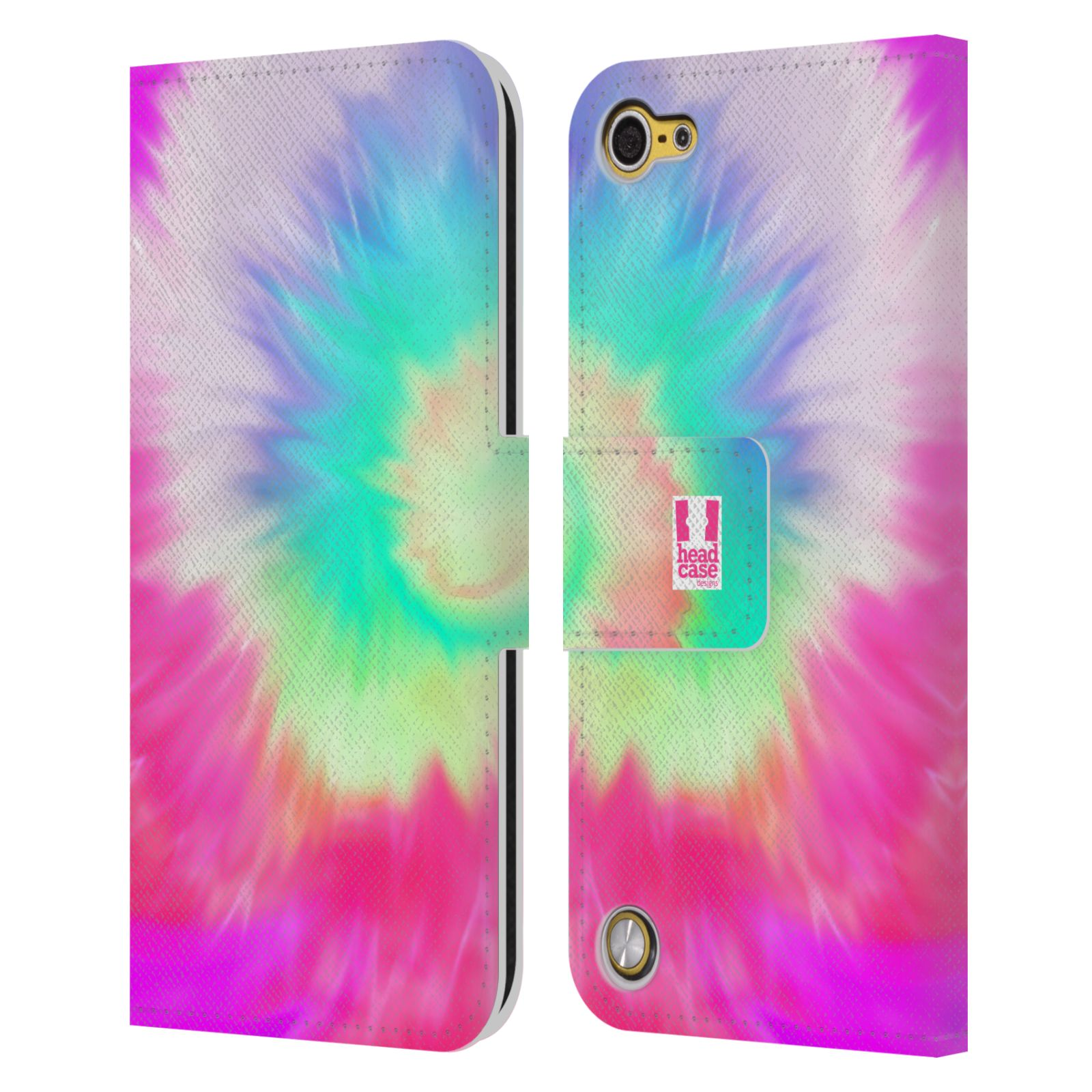 HEAD CASE DESIGNS TIE DYE LEATHER BOOK WALLET CASE COVER FOR APPLE iPOD TOUCH