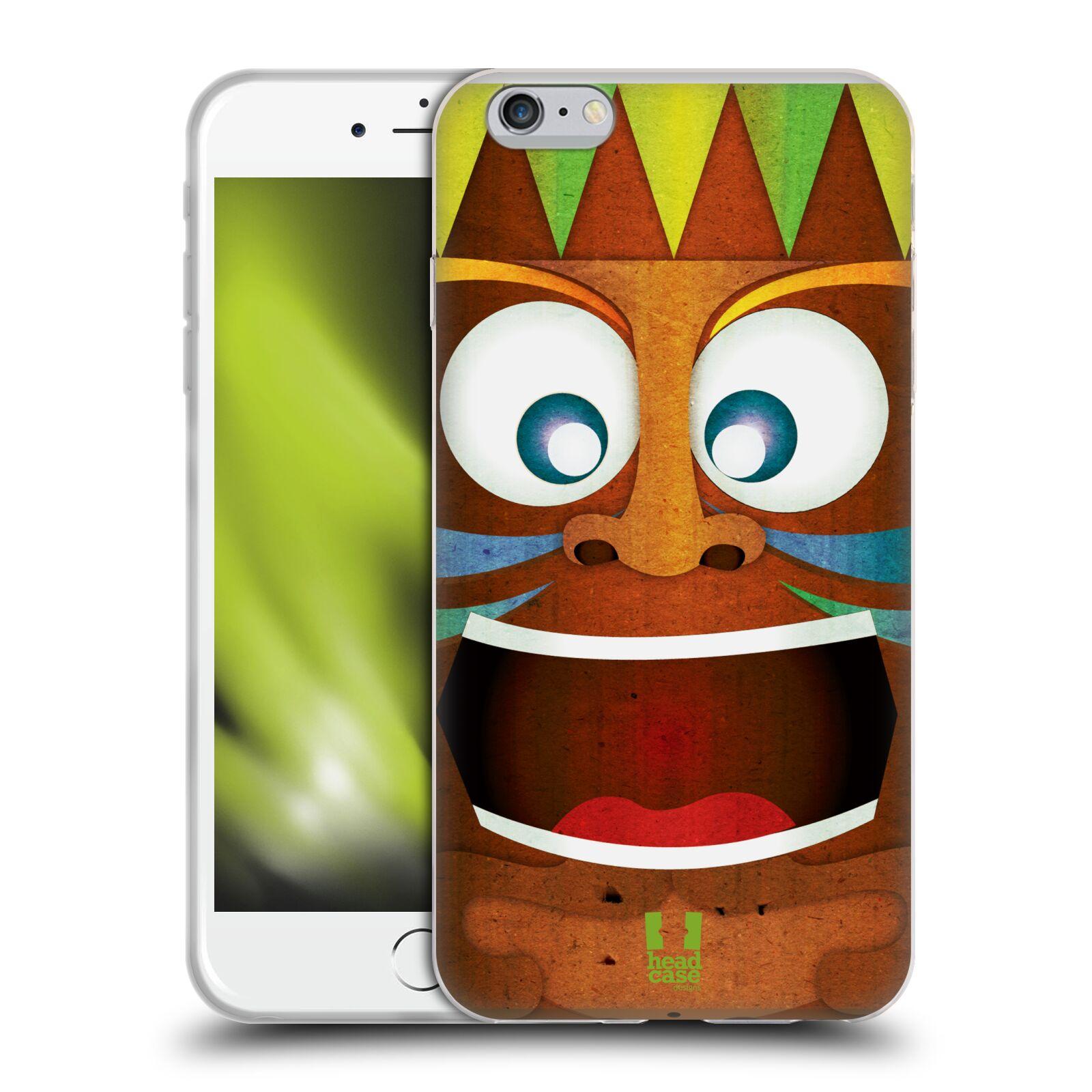 HEAD CASE silikonový obal na mobil Apple Iphone 6 PLUS/ 6S PLUS vzor TIKI TAKA Maska ŠÍLENÝ
