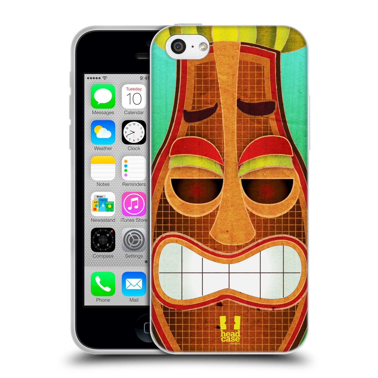 HEAD-CASE-DESIGNS-TIKI-COLLECTION-SOFT-GEL-CASE-FOR-APPLE-iPHONE-5C