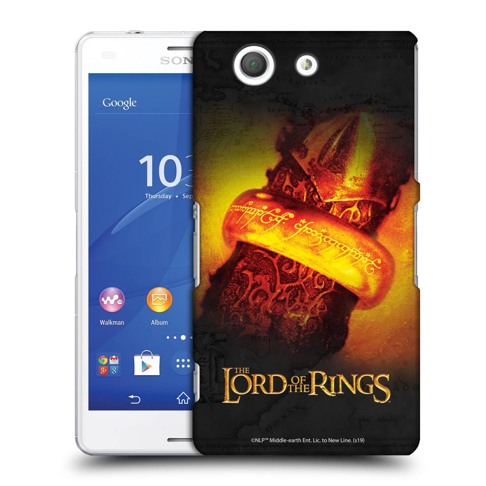 Pouzdro na mobil Sony Xperia Z3 COMPACT - HEAD CASE - Pán Prstenů - žhnoucí prsten