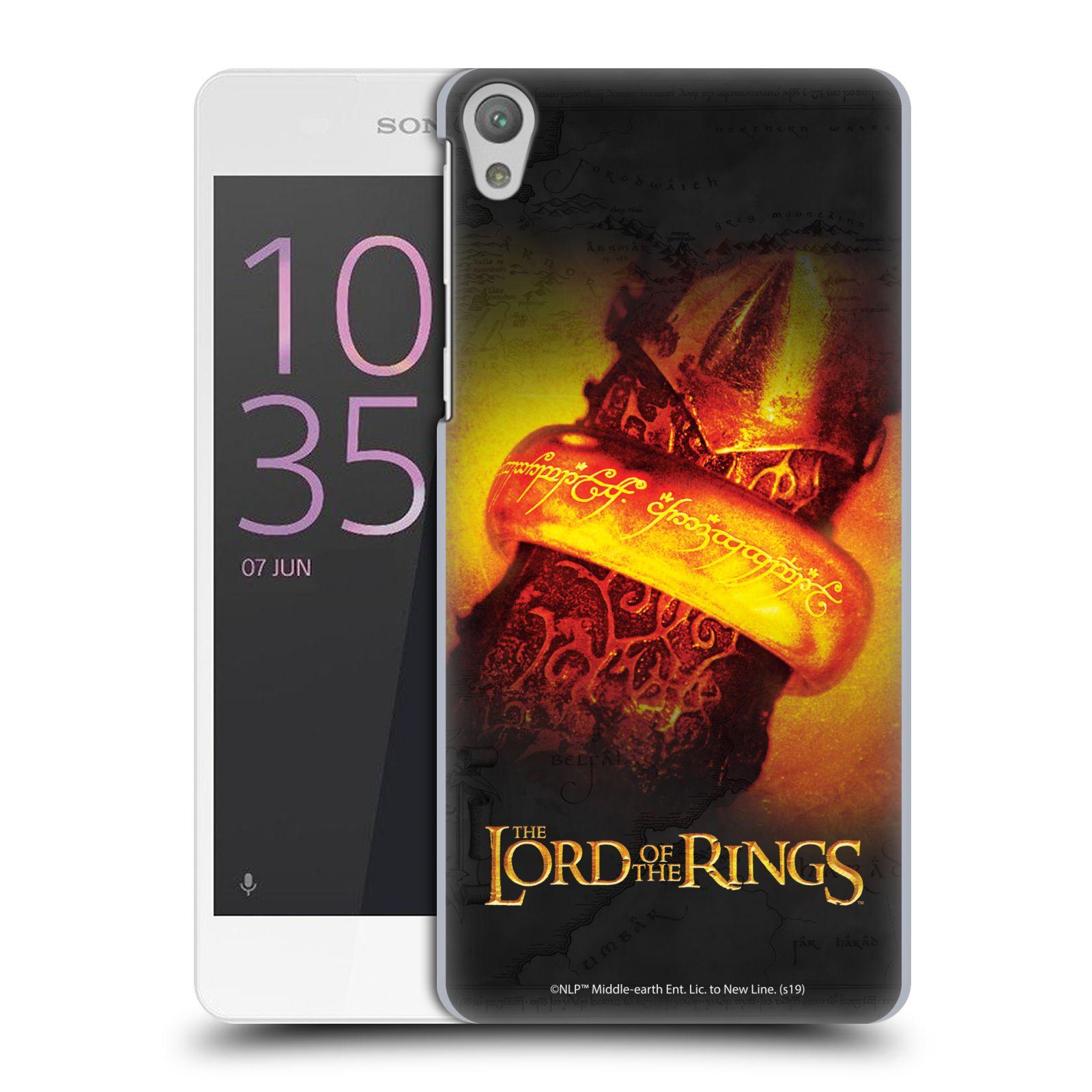 Pouzdro na mobil Sony Xperia E5 - HEAD CASE - Pán Prstenů - žhnoucí prsten