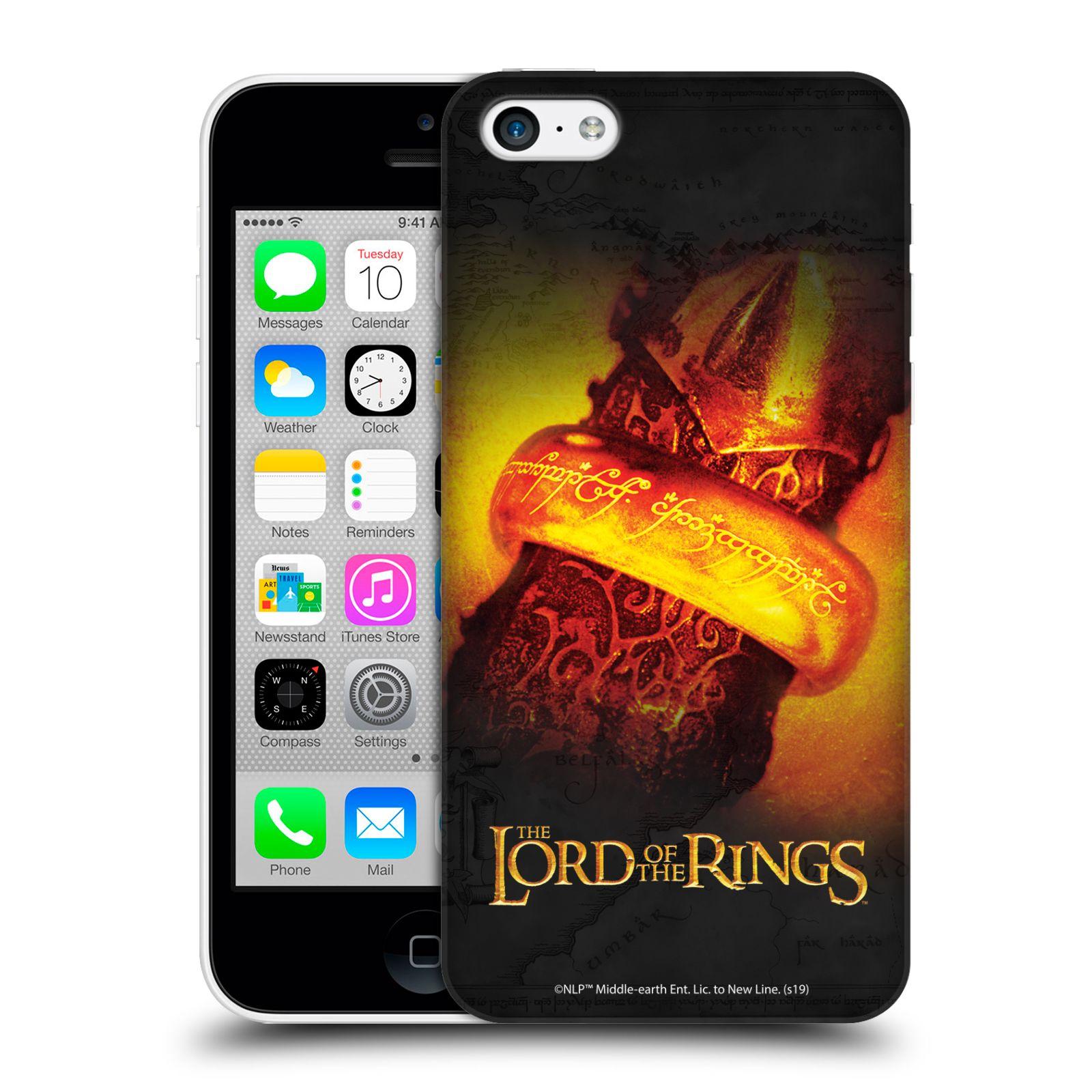 Pouzdro na mobil Apple Iphone 5C - HEAD CASE - Pán Prstenů - žhnoucí prsten