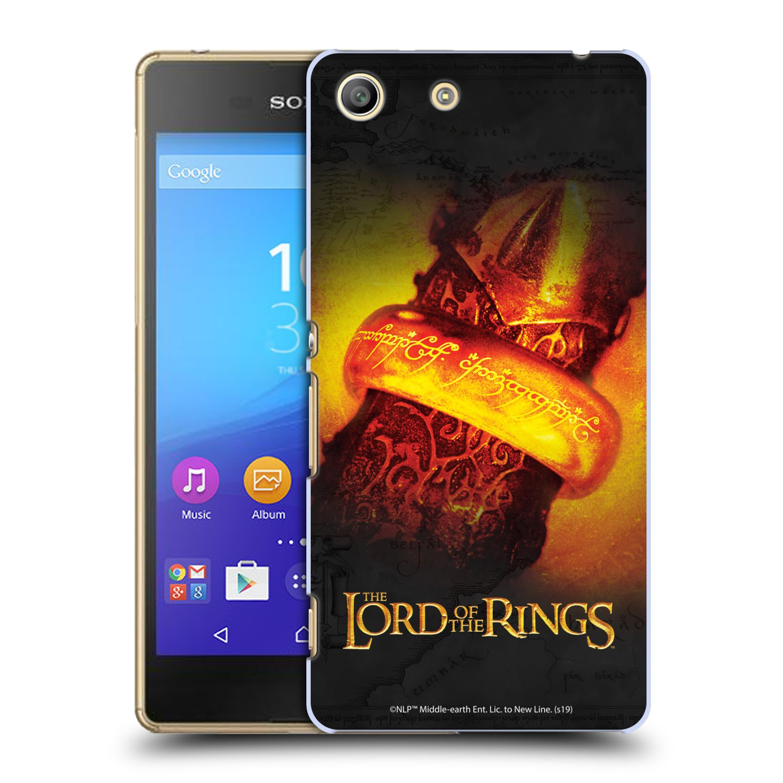 Pouzdro na mobil Sony Xperia M5 - HEAD CASE - Pán Prstenů - žhnoucí prsten