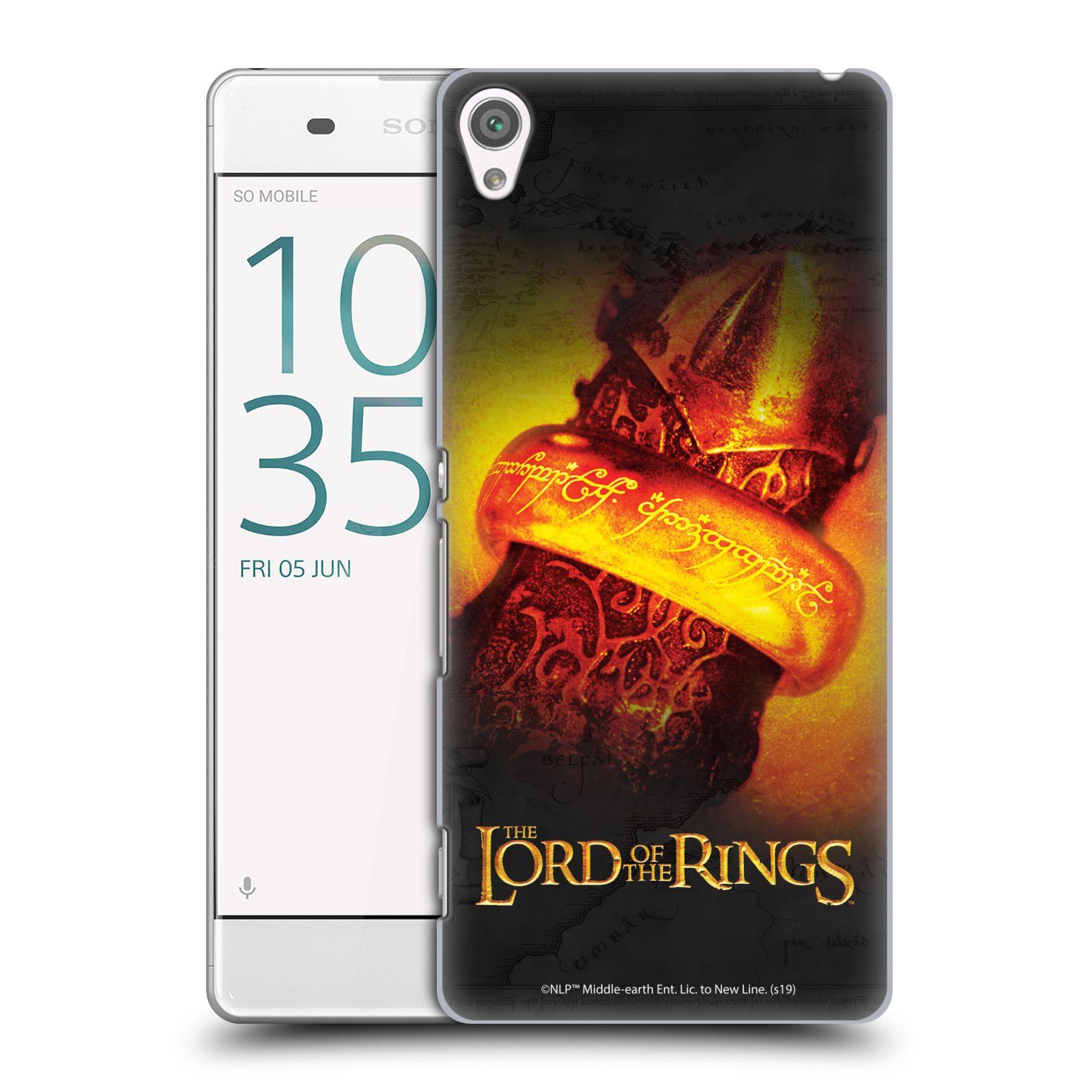 Pouzdro na mobil Sony Xperia XA - HEAD CASE - Pán Prstenů - žhnoucí prsten