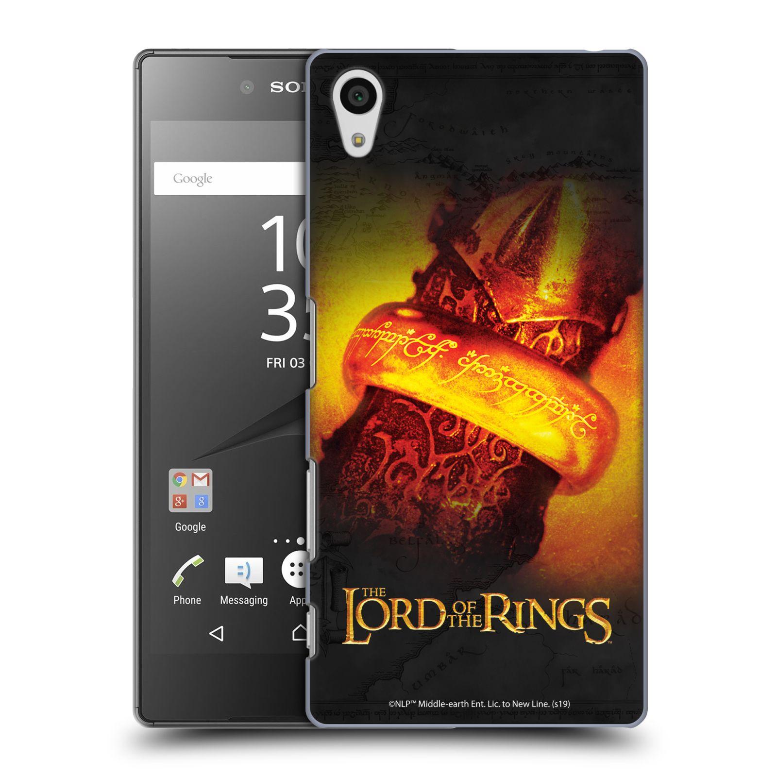 Pouzdro na mobil Sony Xperia Z5 - HEAD CASE - Pán Prstenů - žhnoucí prsten