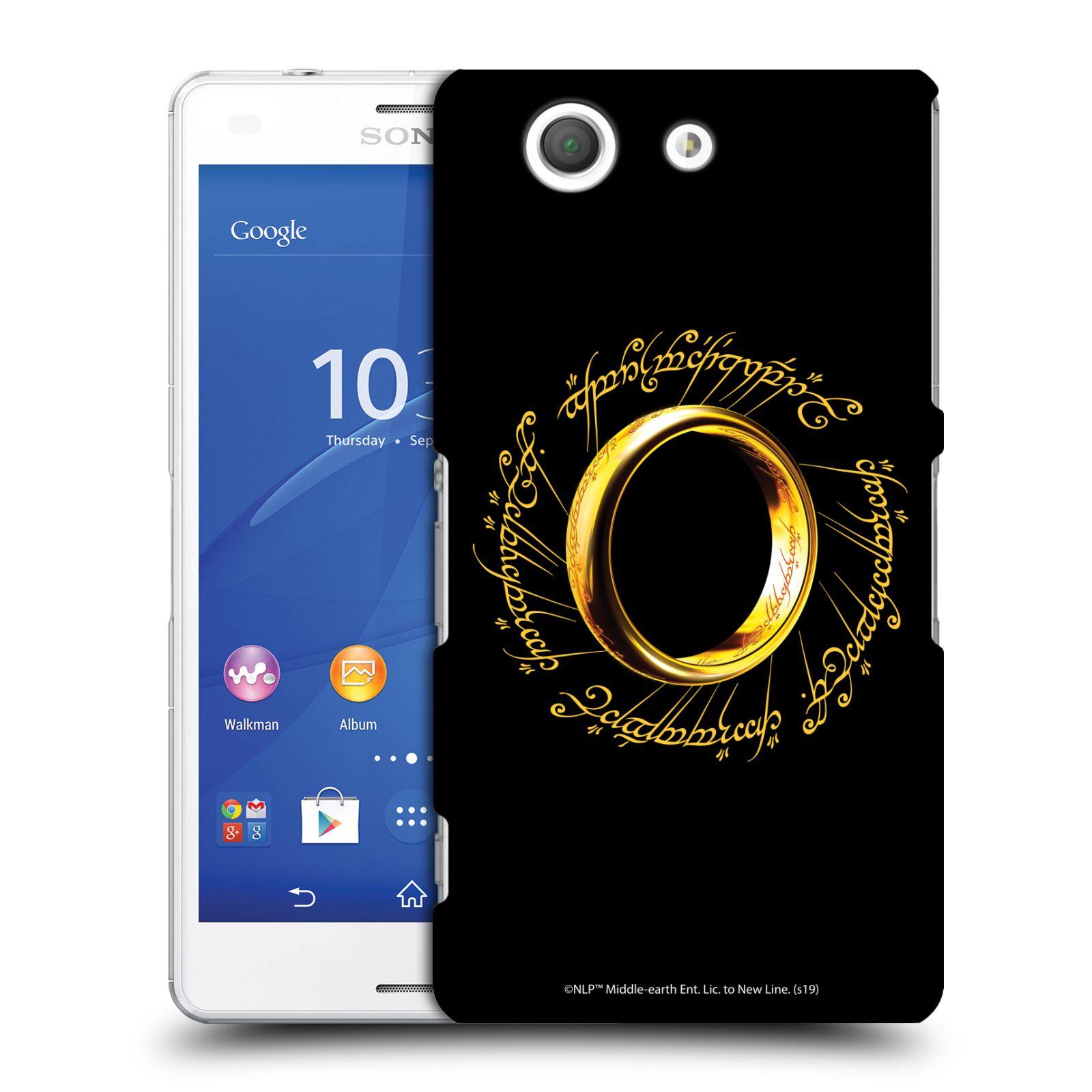 Pouzdro na mobil Sony Xperia Z3 COMPACT - HEAD CASE - Pán Prstenů - zlatý prsten