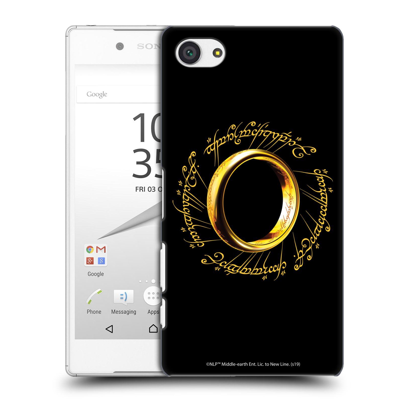 Pouzdro na mobil Sony Xperia Z5 COMPACT - HEAD CASE - Pán Prstenů - zlatý prsten