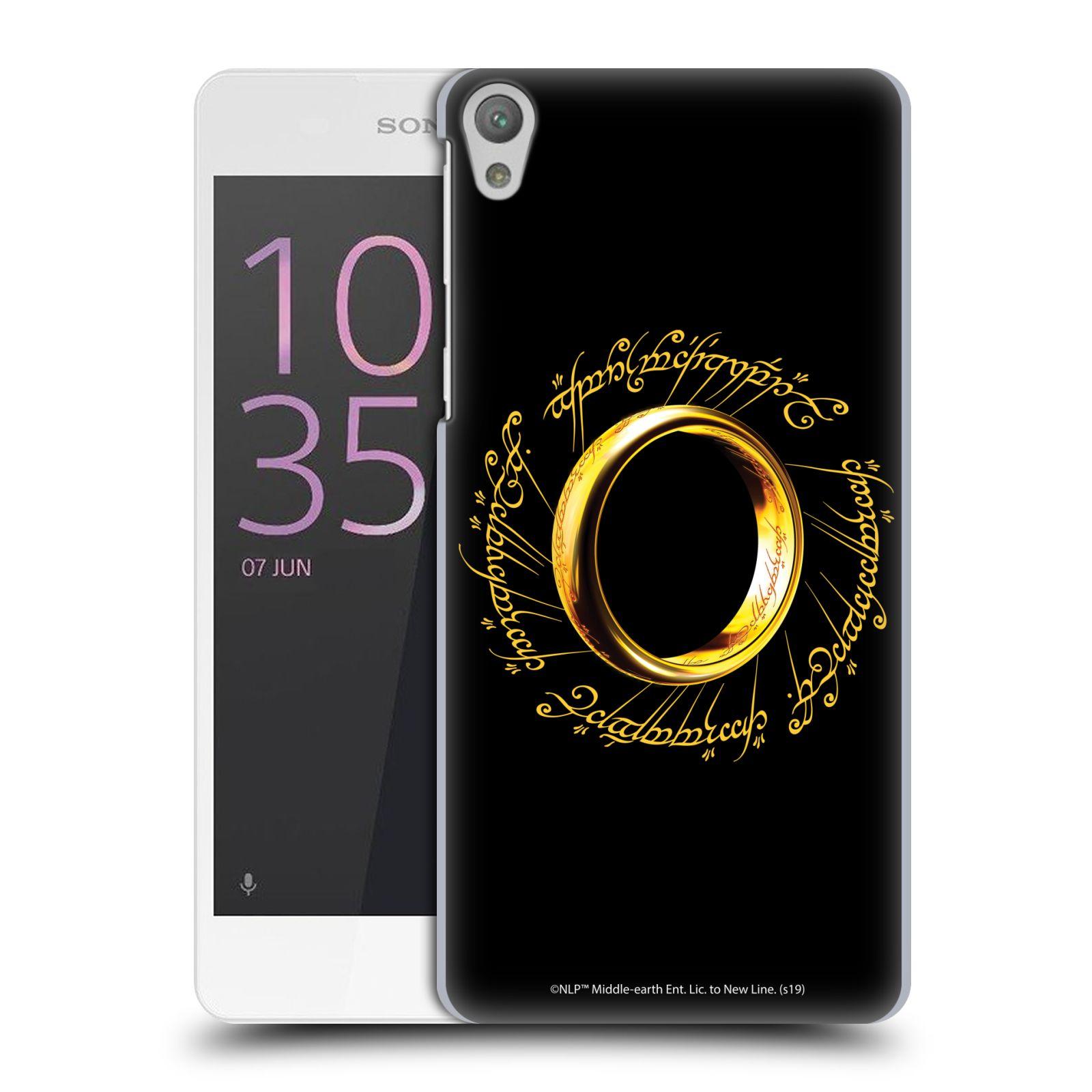 Pouzdro na mobil Sony Xperia E5 - HEAD CASE - Pán Prstenů - zlatý prsten