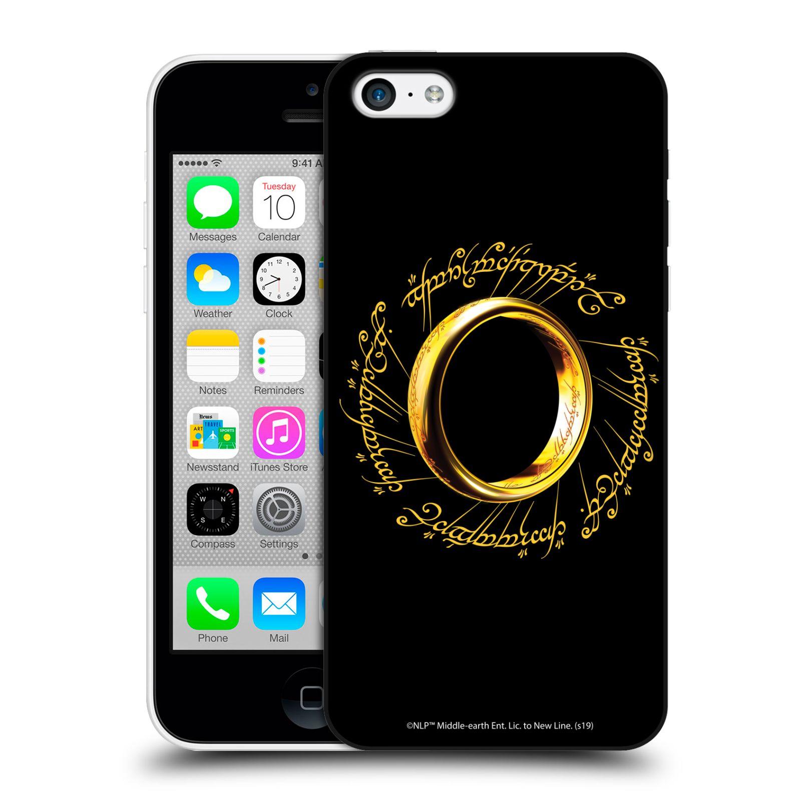 Pouzdro na mobil Apple Iphone 5C - HEAD CASE - Pán Prstenů - zlatý prsten