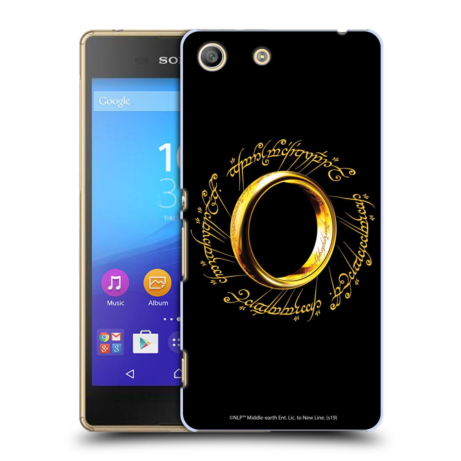 Pouzdro na mobil Sony Xperia M5 - HEAD CASE - Pán Prstenů - zlatý prsten